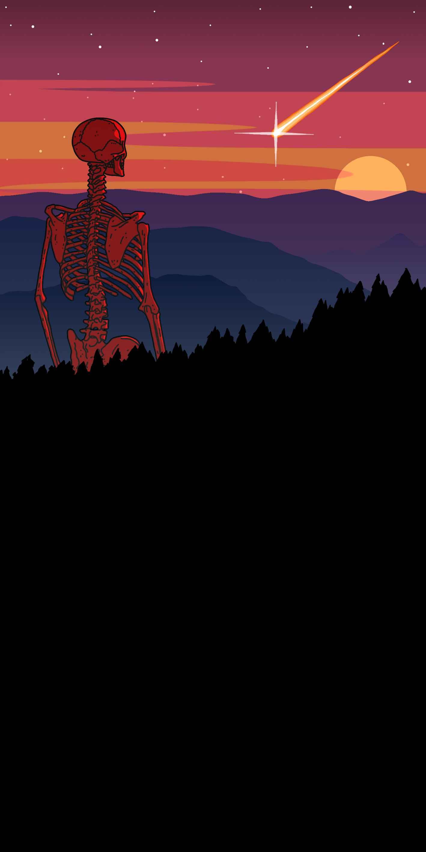Skeleton World iPhone Wallpaper