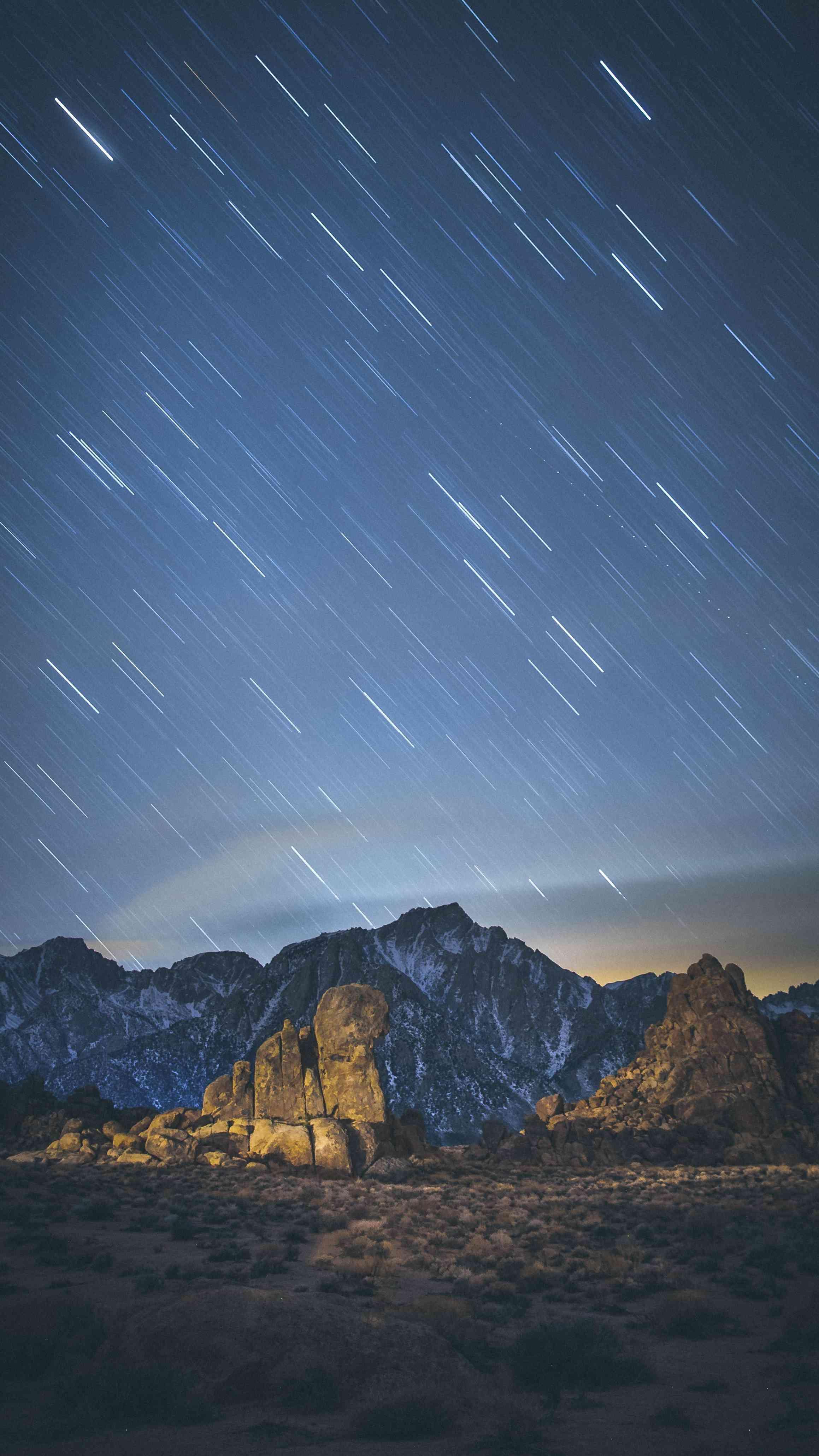 Sky Night Stars Long Exposure iPhone Wallpaper