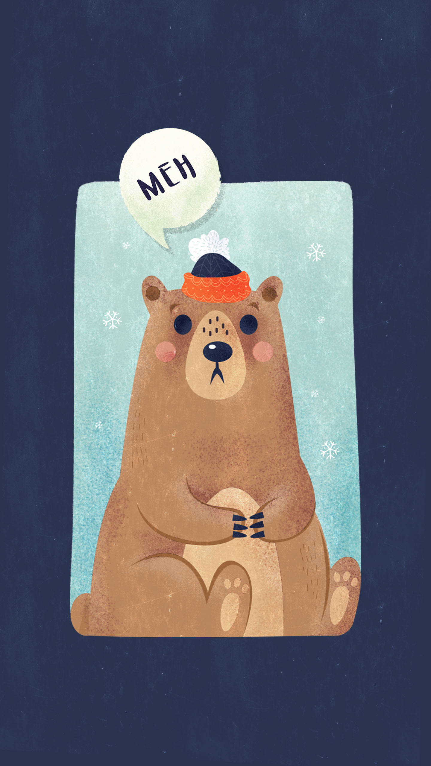 Snow bear iPhone Wallpaper