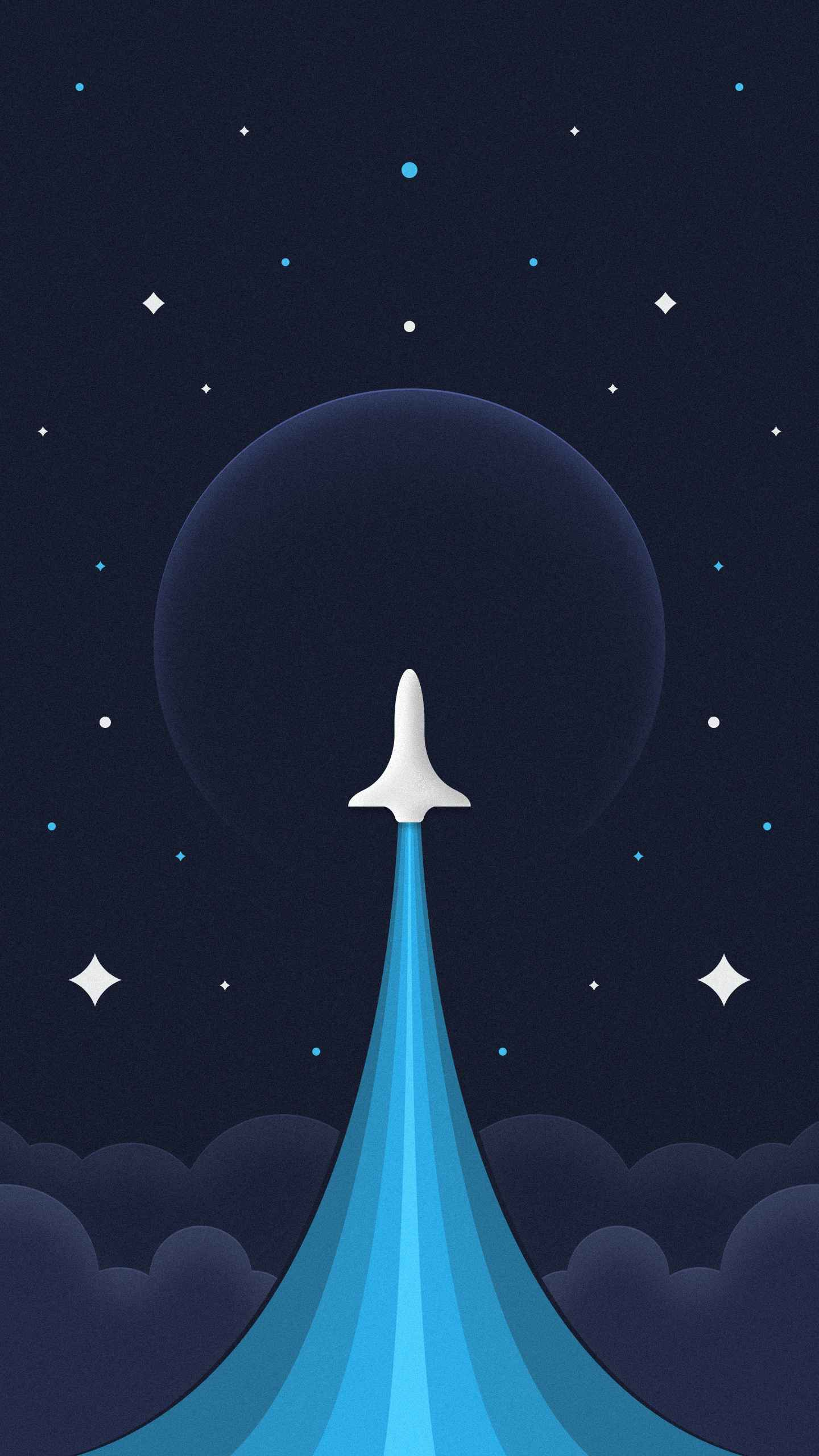 Space Expedition Amoled iPhone Wallpaper