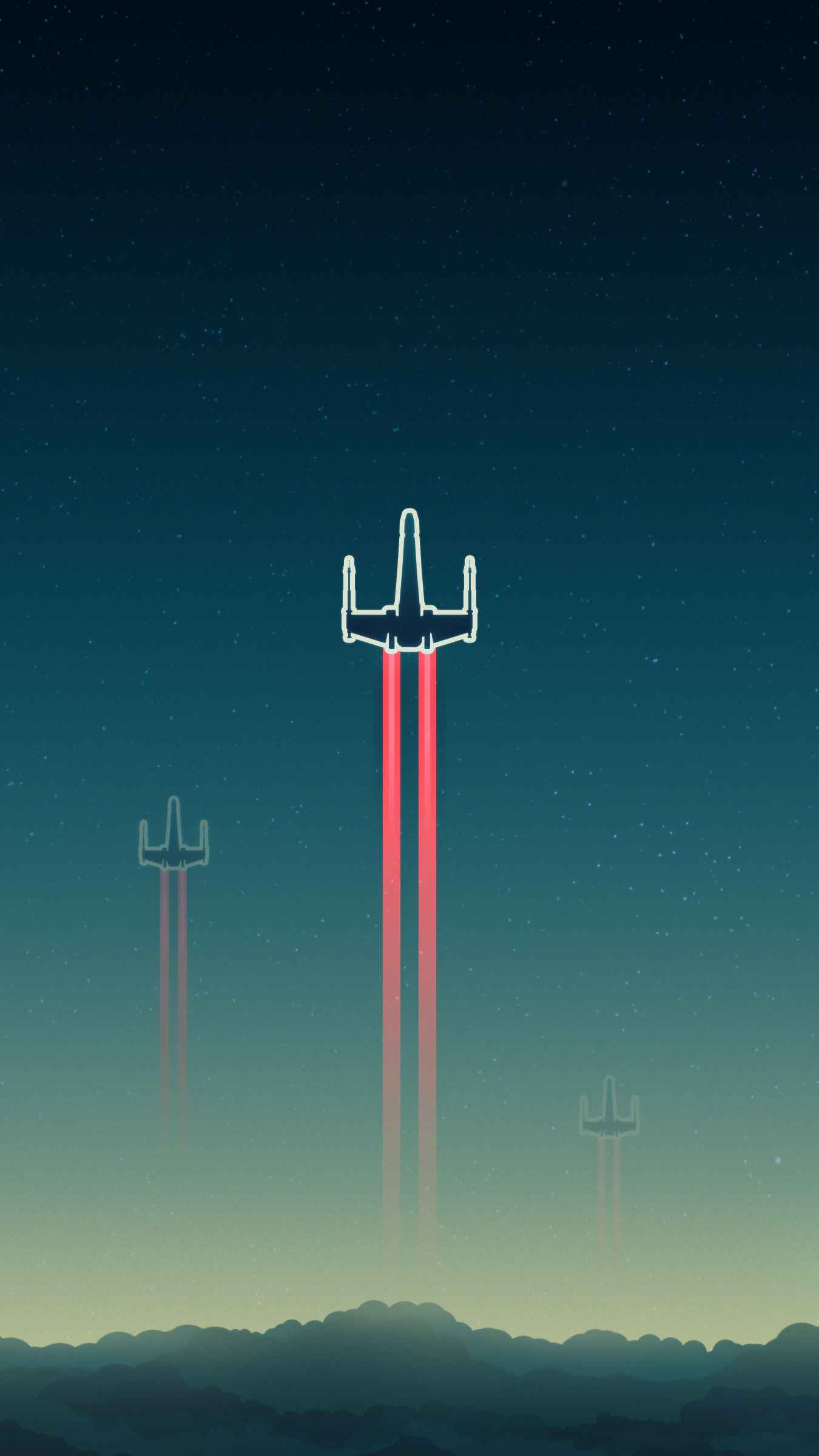 Space Fighters iPhone Wallpaper