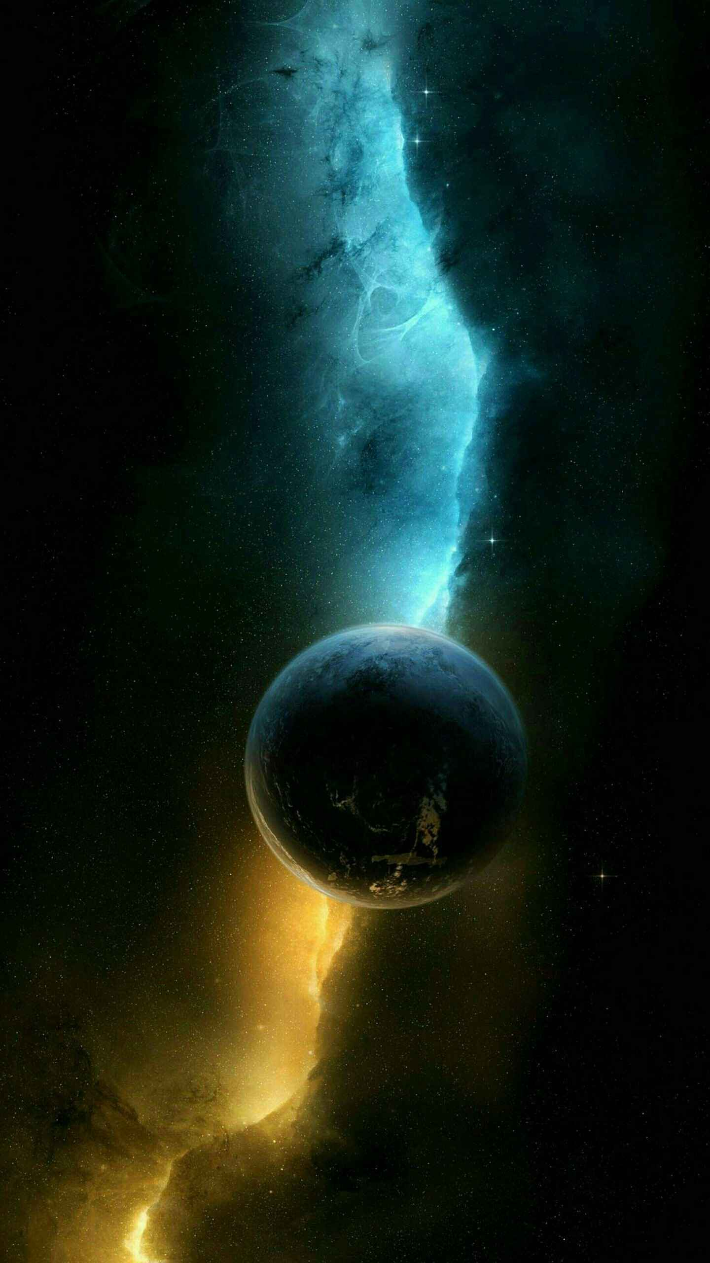 Space Planet Nebula iPhone Wallpaper