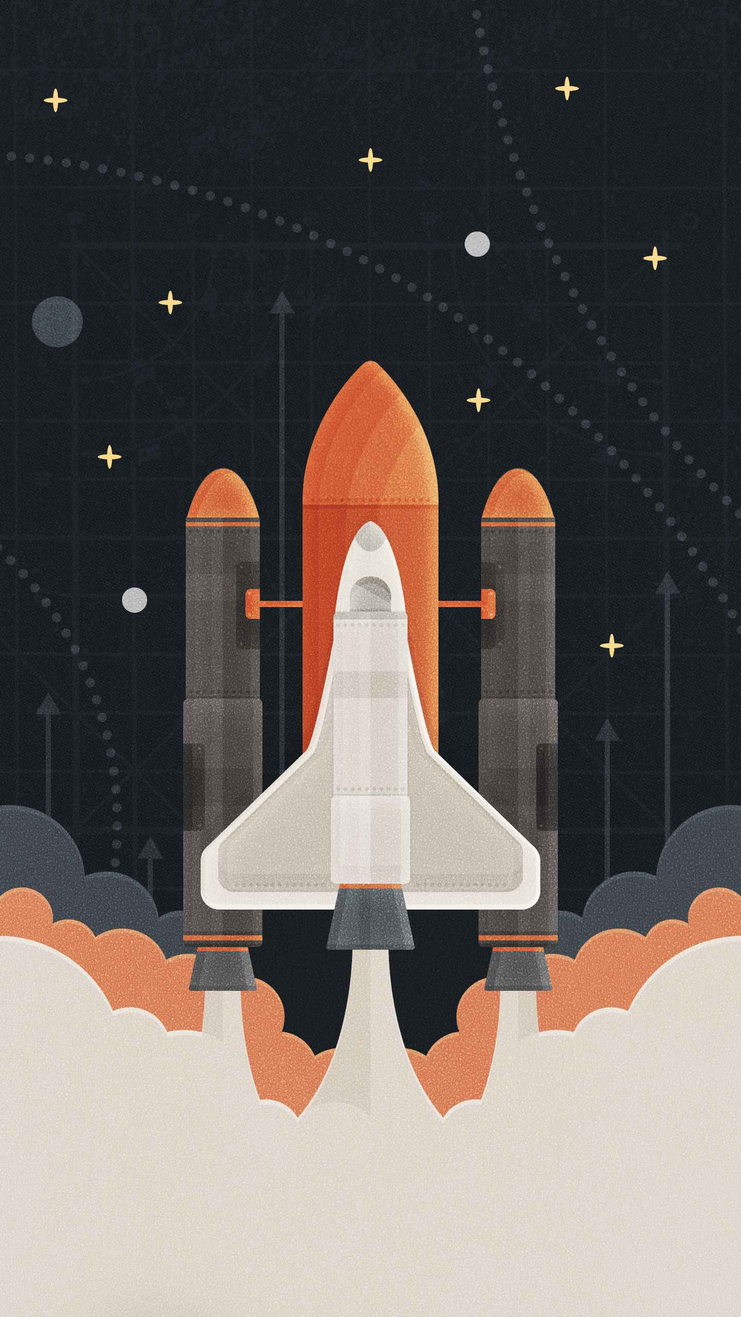 Space Shuttle Launch iPhone Wallpaper
