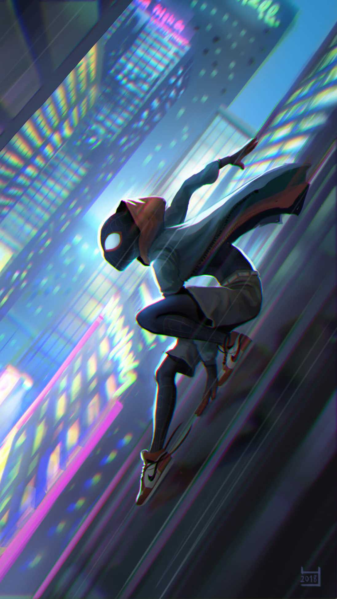 SpiderMan Into the Spider Verse iPhone Wallpaper