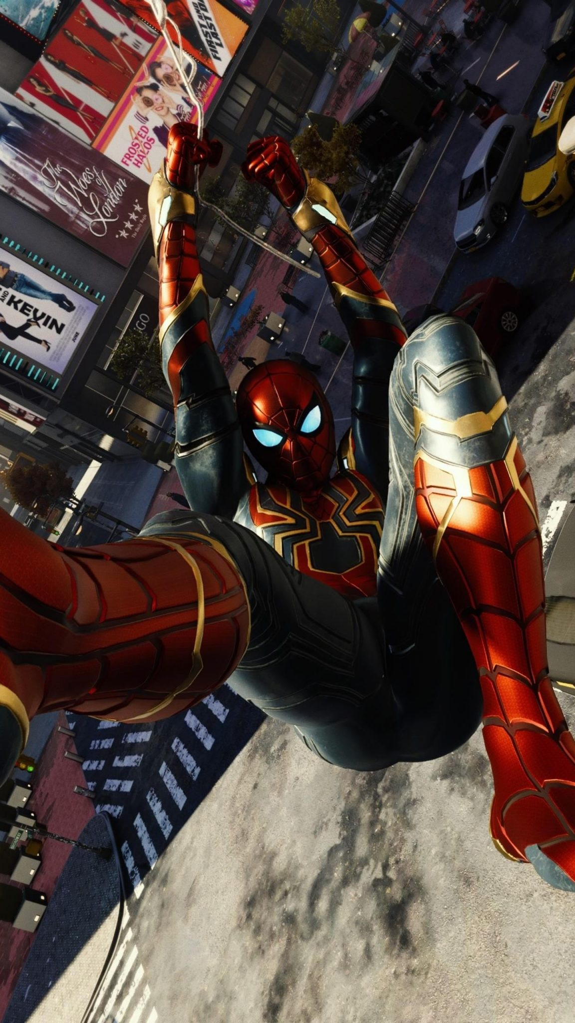 Spiderman Falling Wallpaper