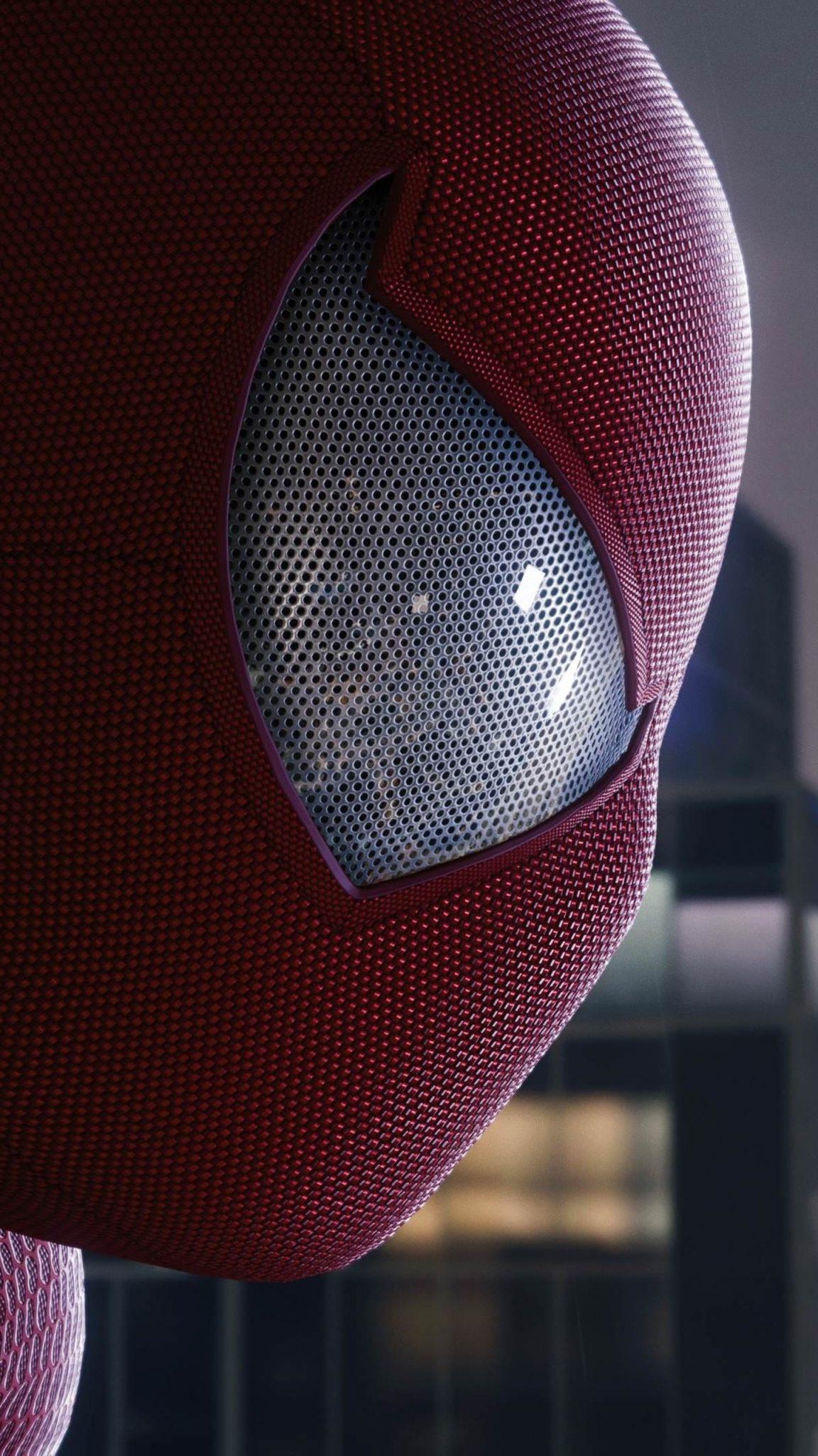 Spiderman Mask Wallpaper
