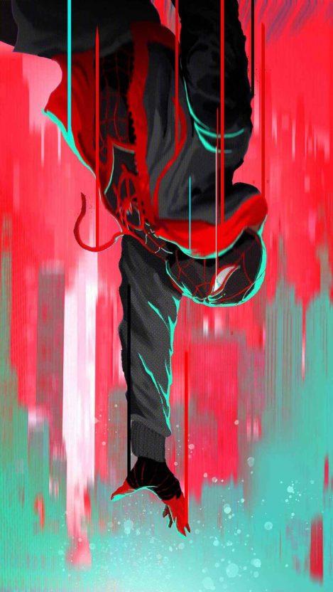 Spiderman Vertical Fall iPhone Wallpaper