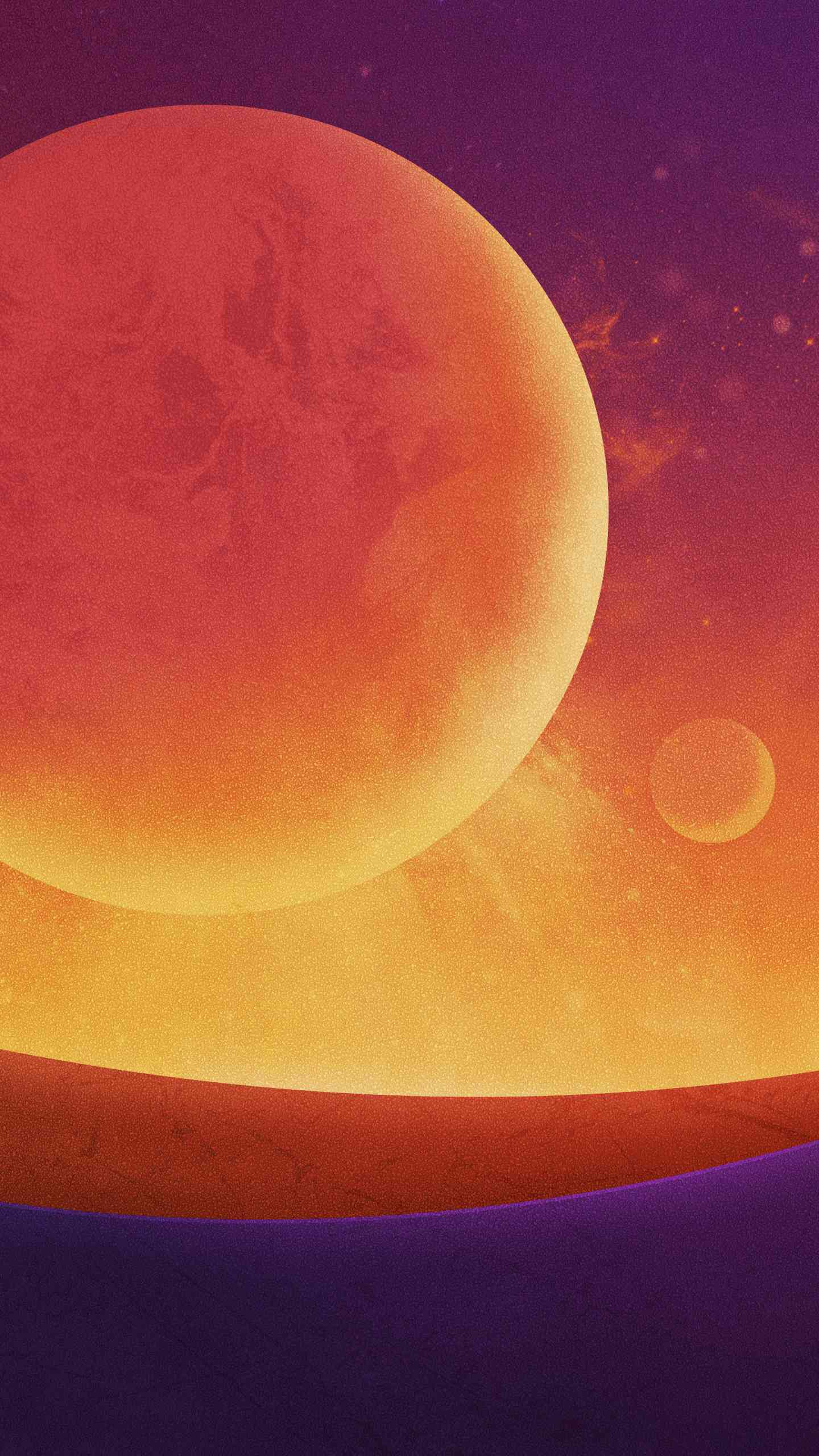 Sun from Mercury iPhone Wallpaper