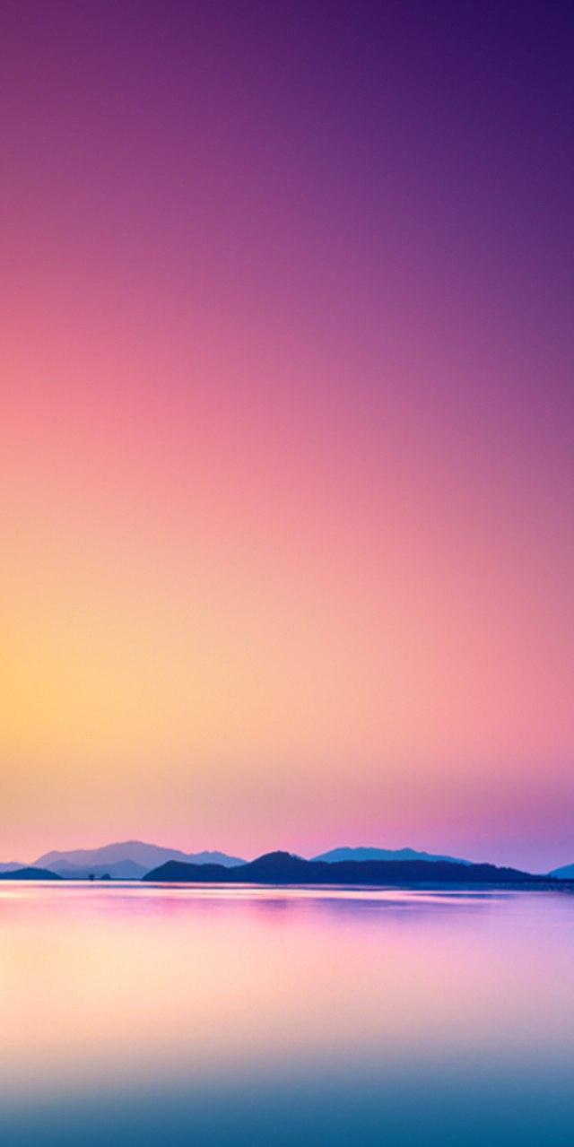 Sunset Sky Sea Mountains iPhone Wallpaper 1