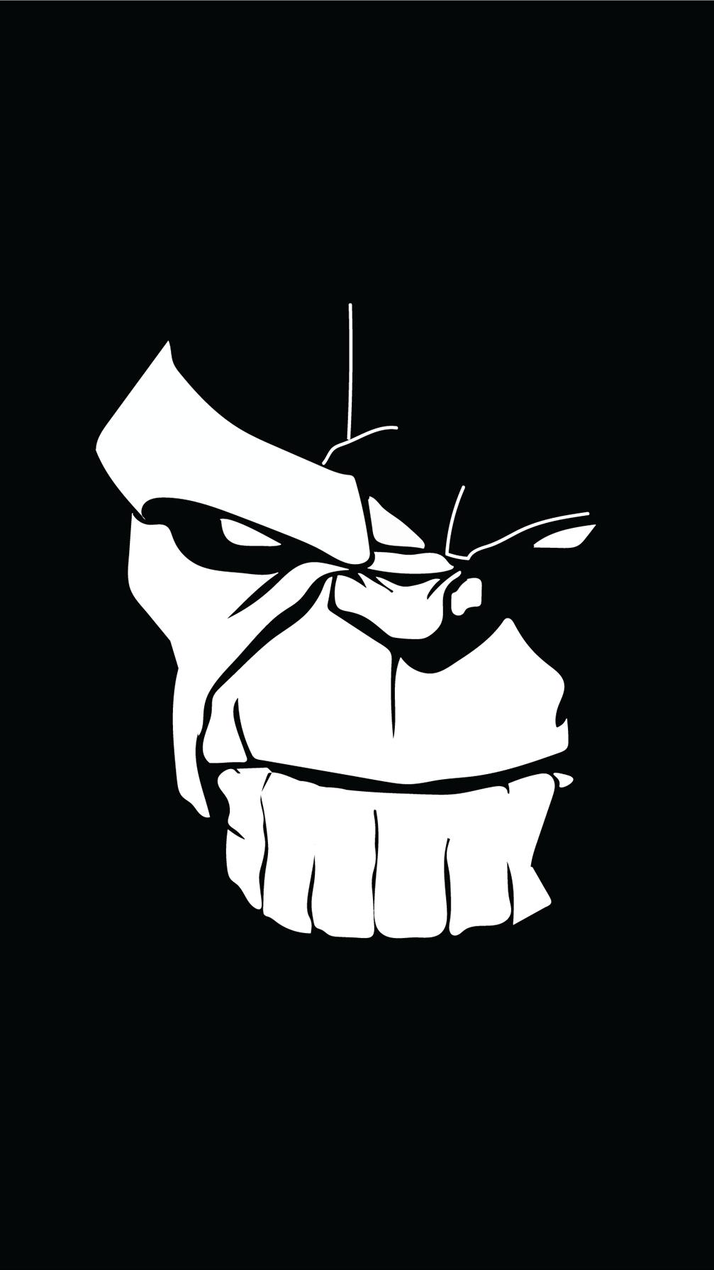 Thanos Face Dark iPhone Wallpaper