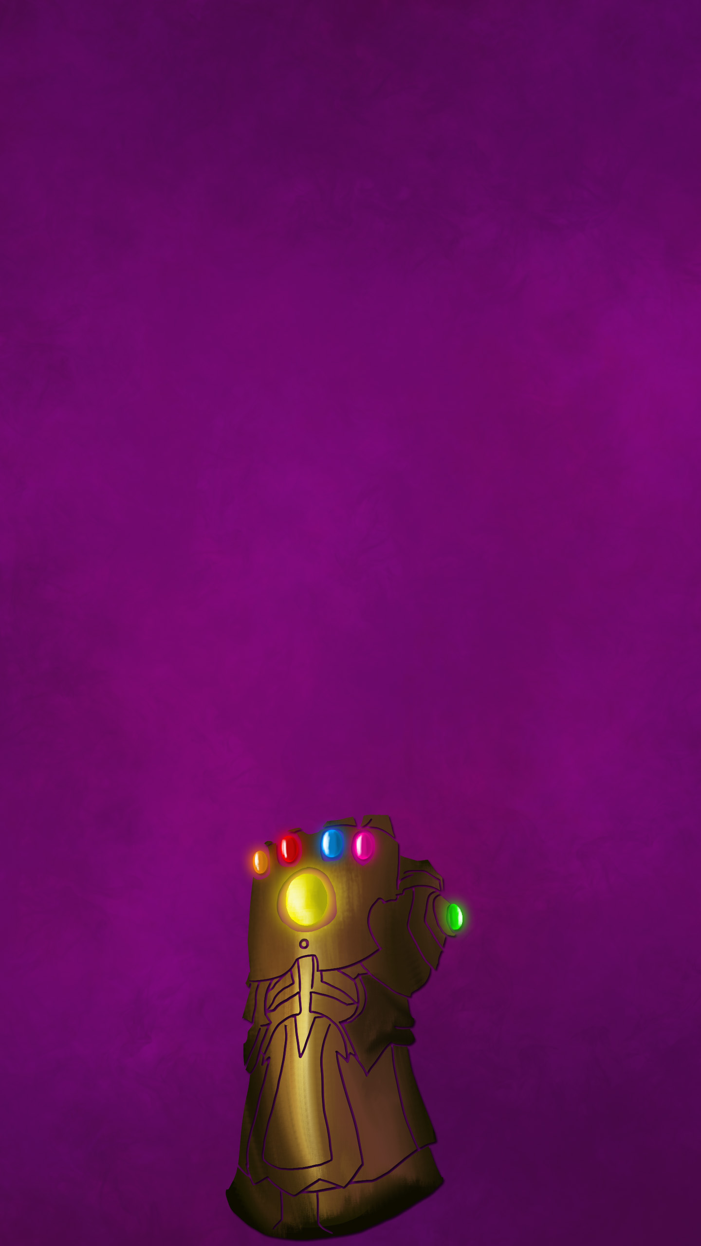 Thanos Infinity Glove iPhone Wallpaper