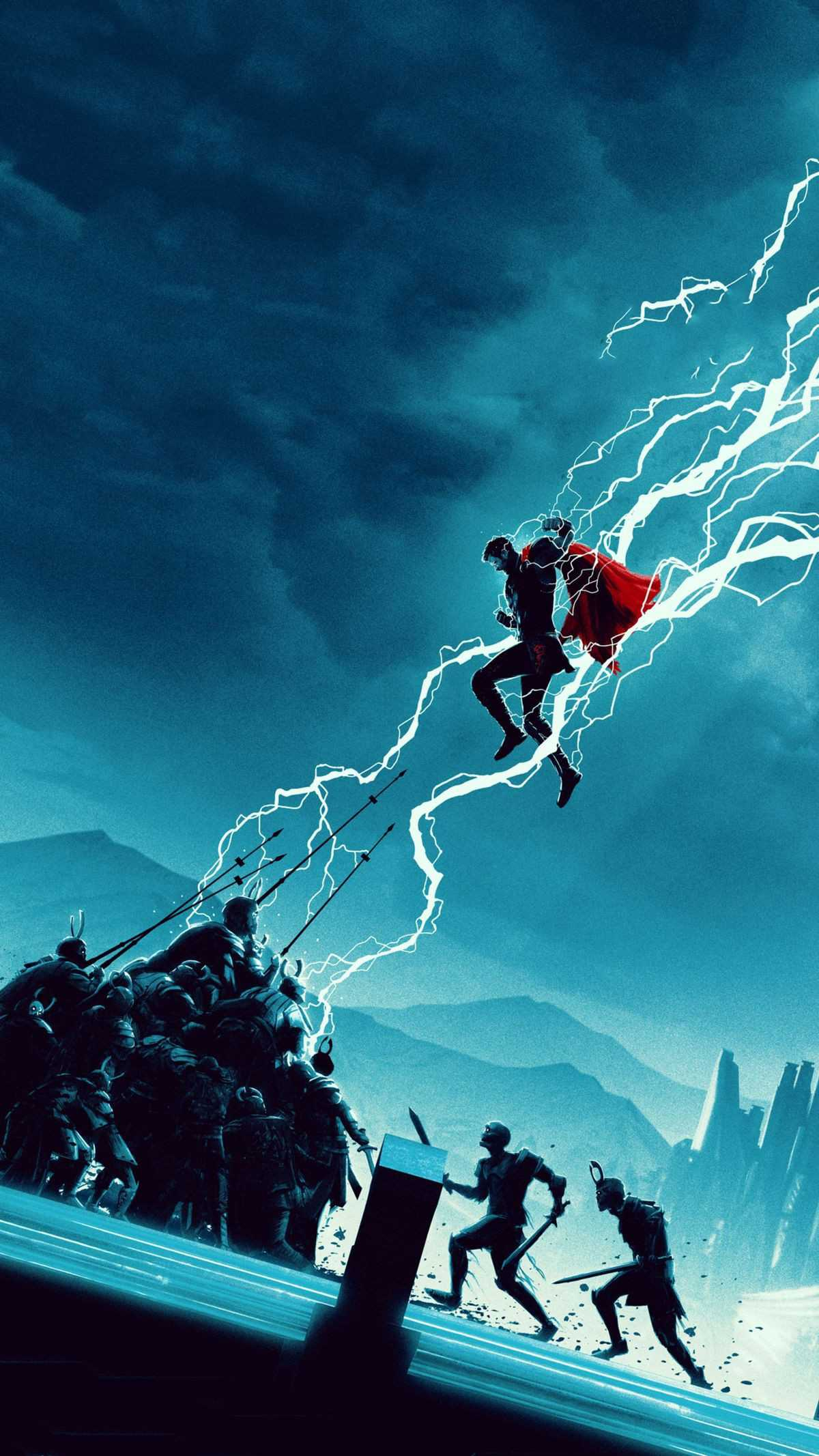 Thor Attack Avengers Endgame iPhone Wallpaper