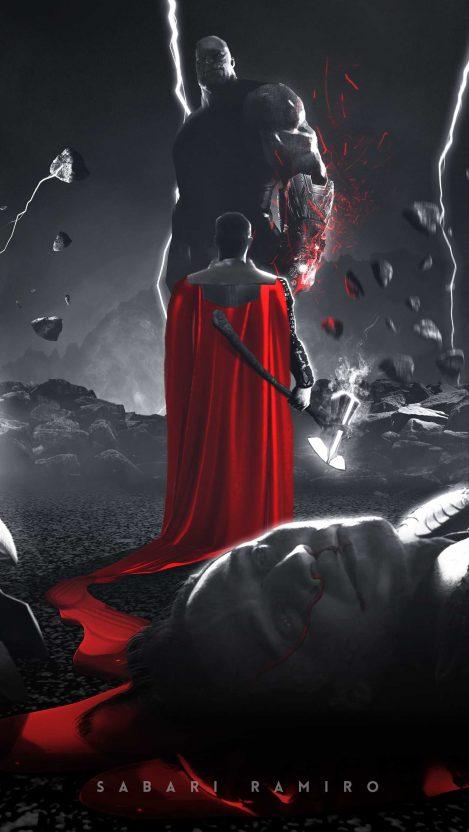 Thor Vs Thanos Avengers Endgame Iphone Wallpaper Iphone