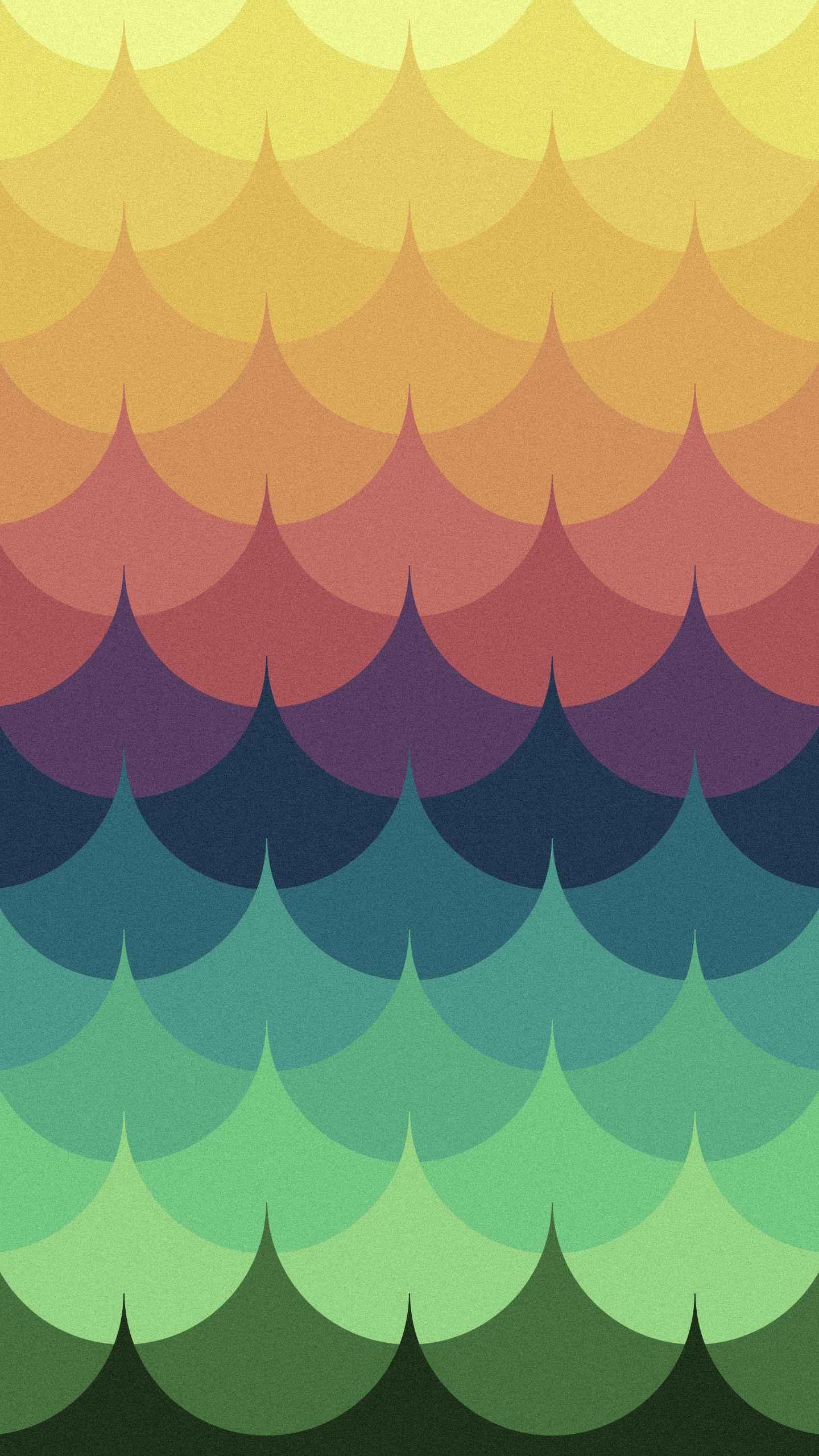 Vivid Waves iPhone Wallpaper