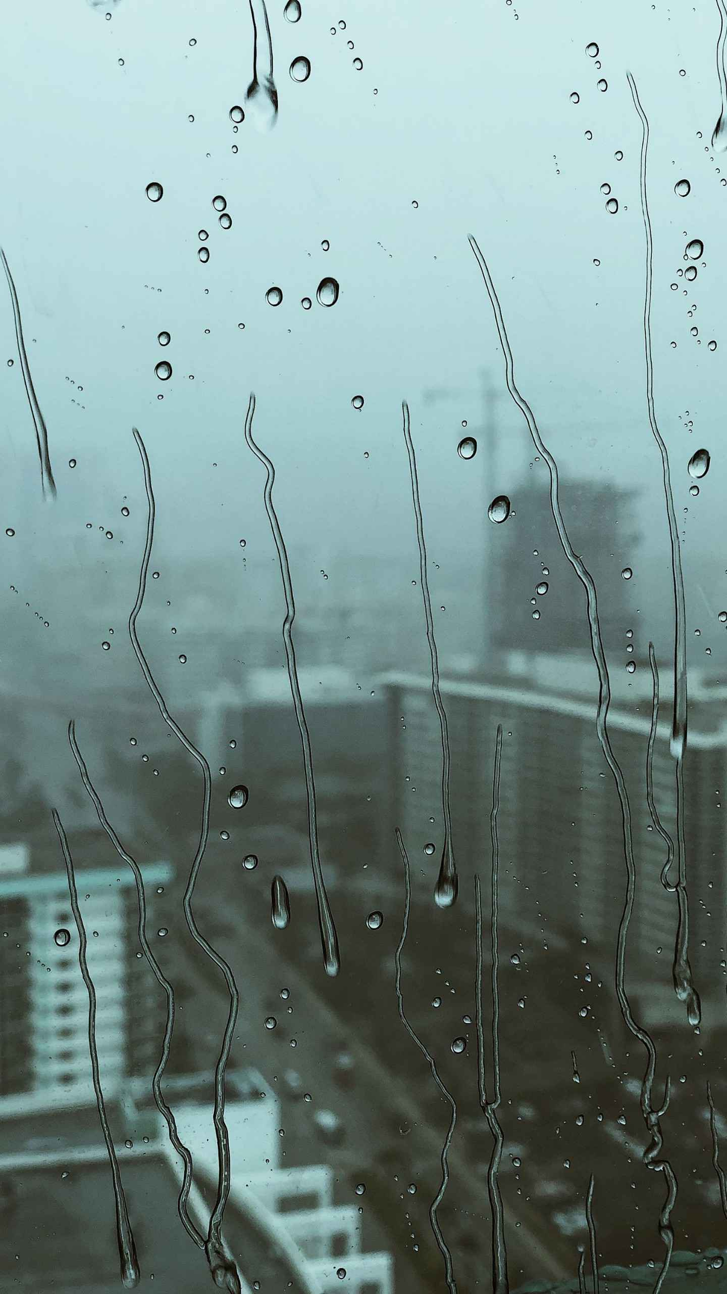 Waterdrops on glass iPhone Wallpaper
