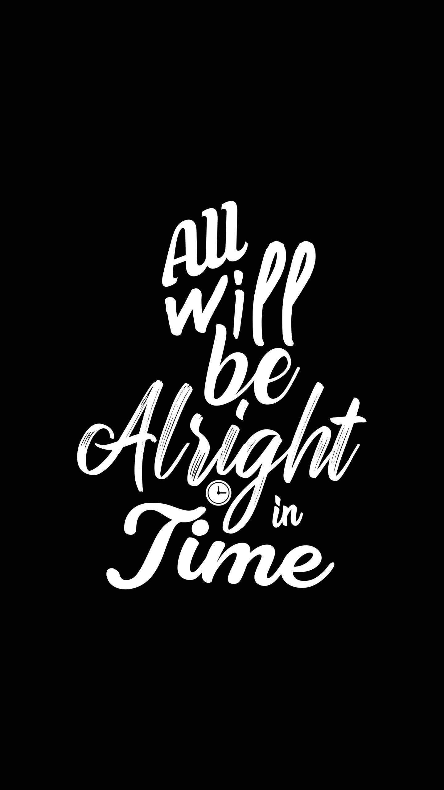 All Will Be Alright iPhone Wallpaper