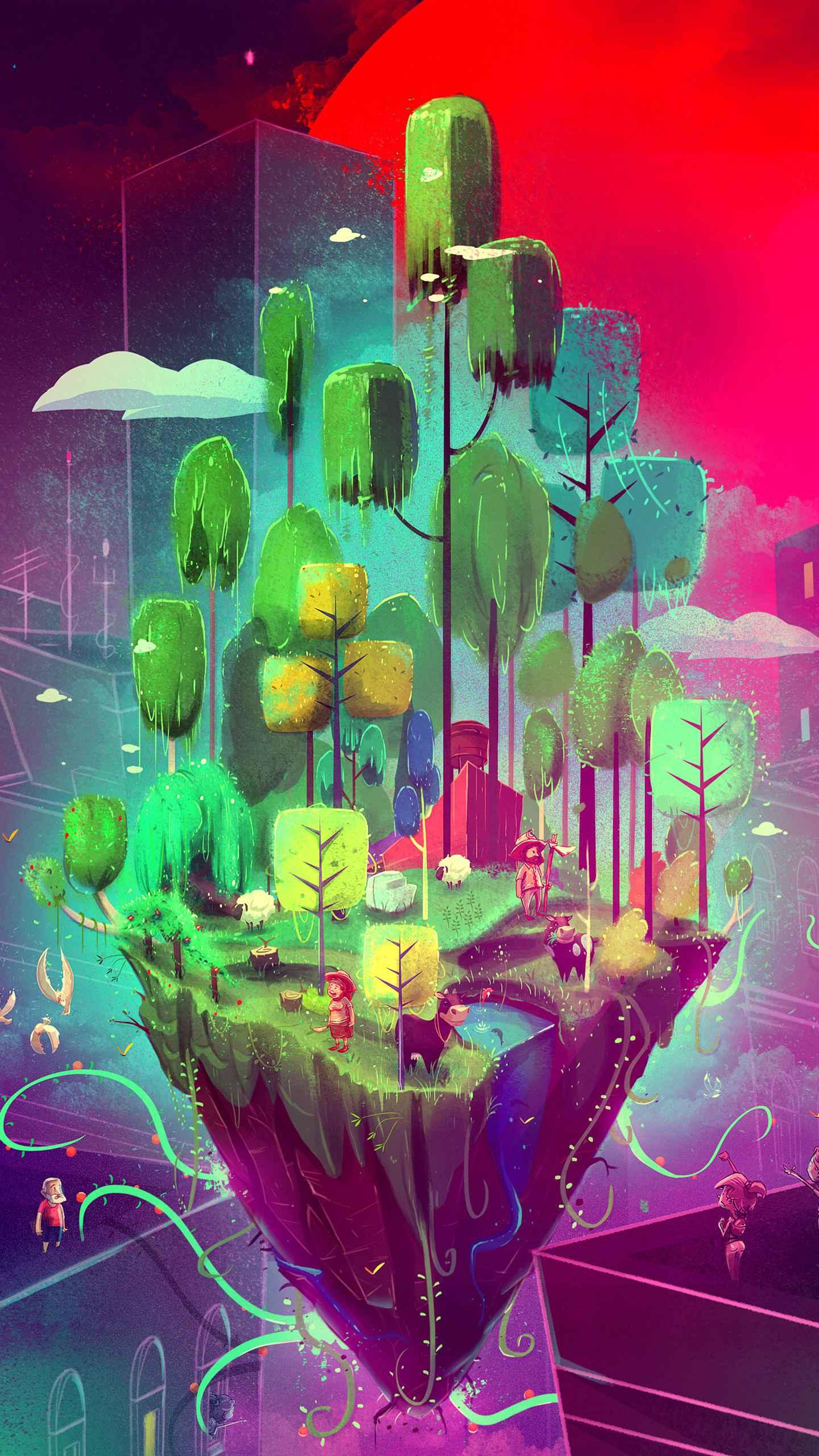 Art Island iPhone Wallpaper