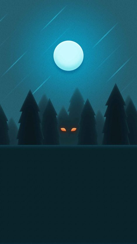 Beast Within the Woods iPhone Wallpaper
