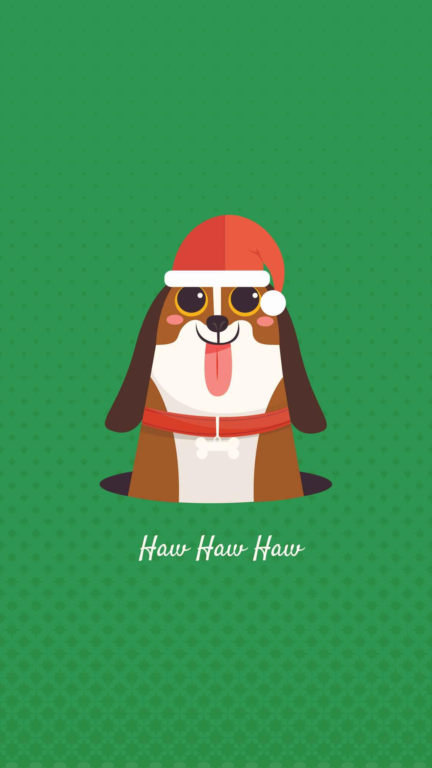 Christmas Dog iPhone Wallpaper