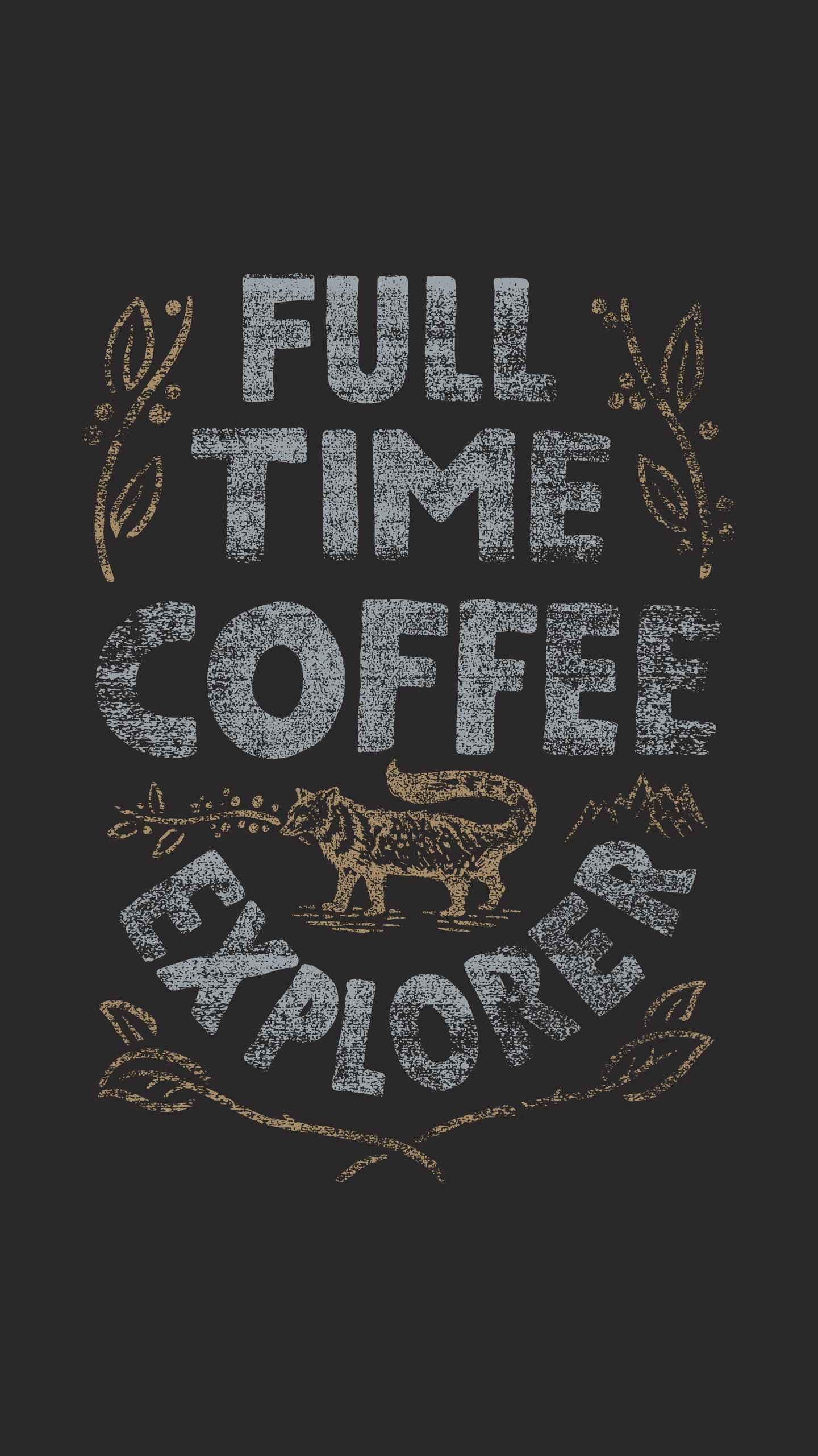 Coffee Explorer iPhone Wallpaper