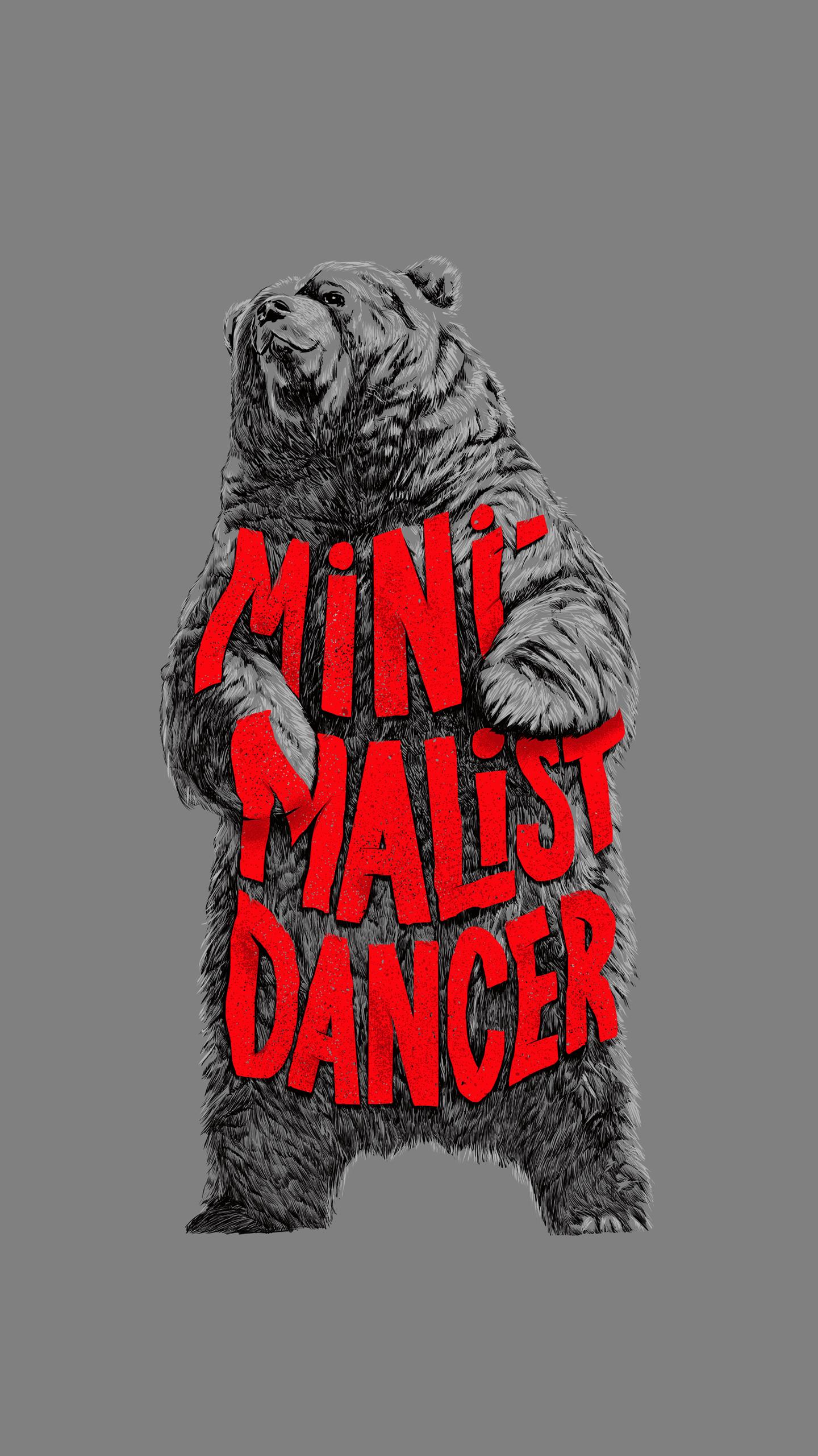 Dancing Bear iPhone Wallpaper