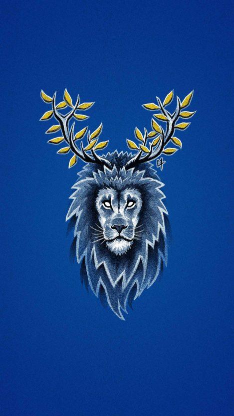 Deer Lion iPhone Wallpaper