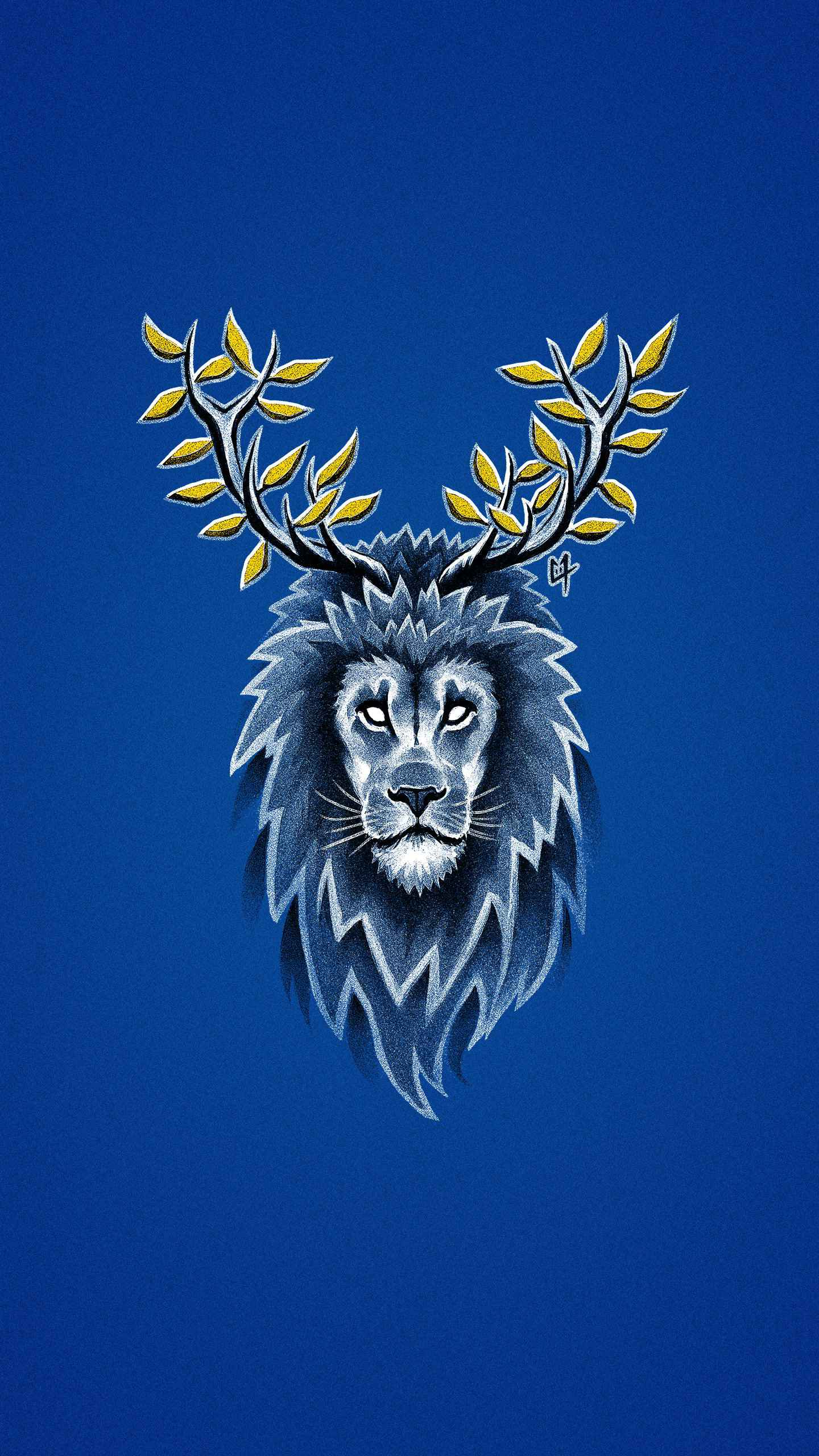 Deer Lion iPhone Wallpaper