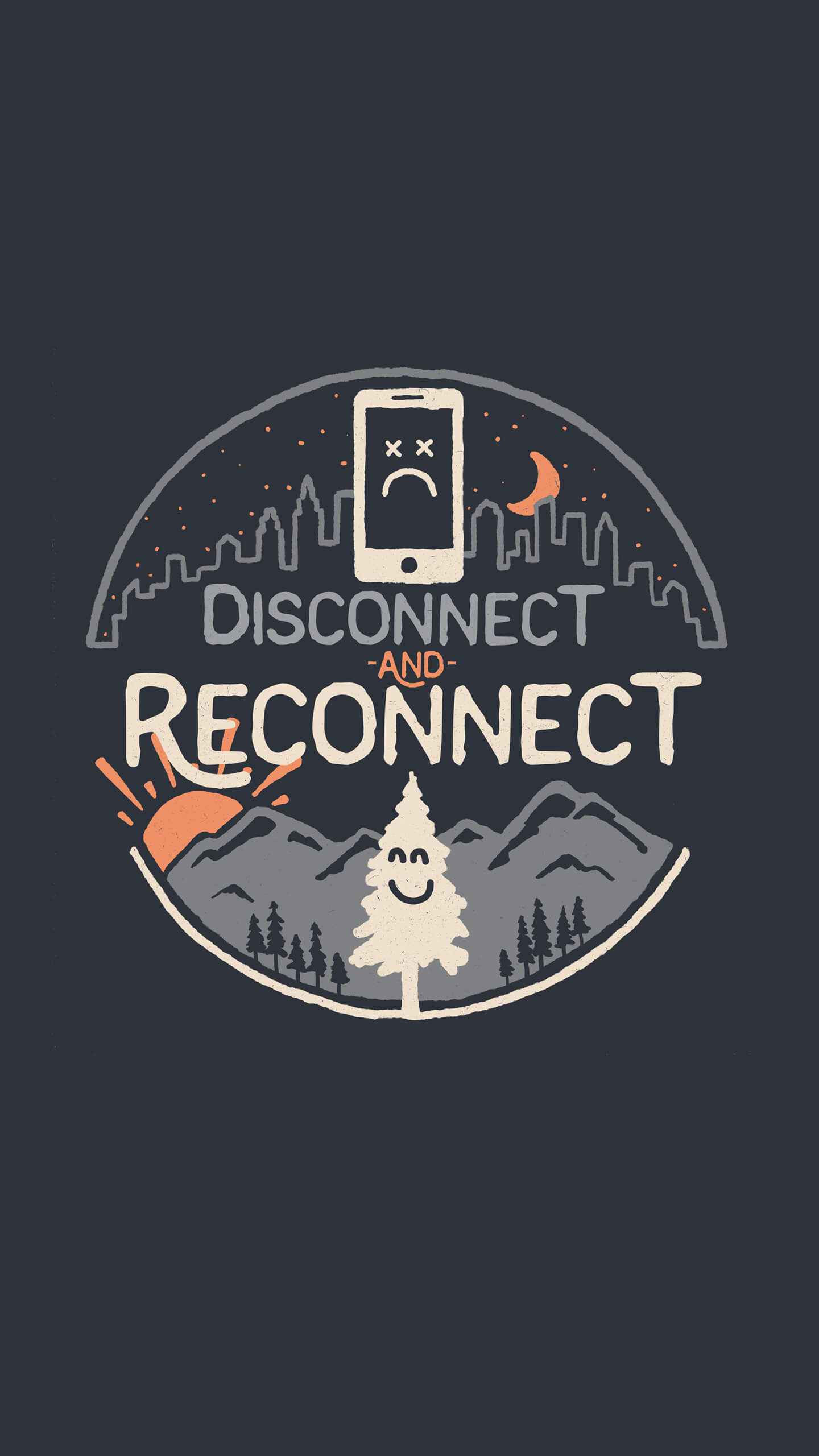 Disconnect and Reconnect iPhone Wallpaper