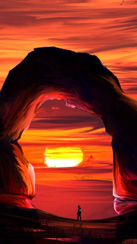 Dusk desert iPhone Wallpaper