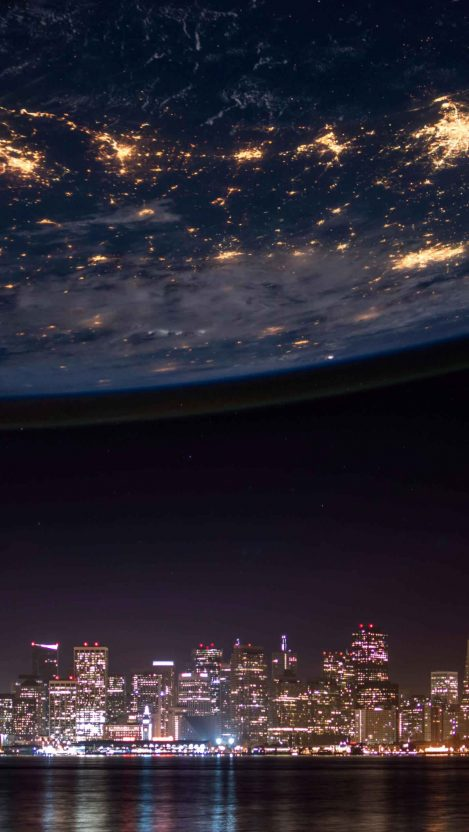Earth lights iPhone Wallpaper