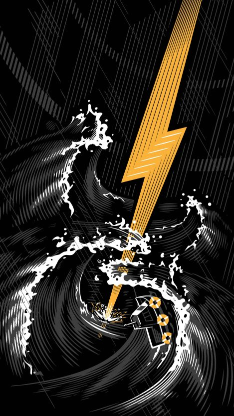 Electric guitar storm iPhone Wallpaper
