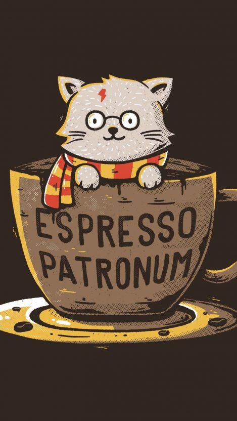 Espresso patronum iPhone Wallpaper