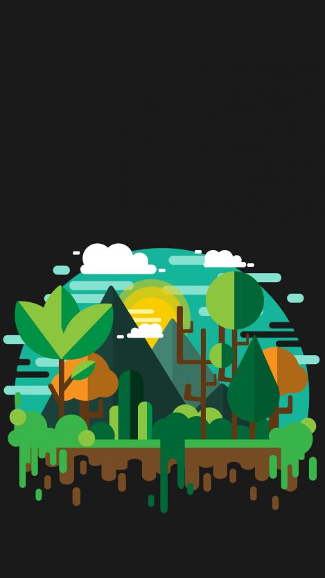 Ever green Minimal iPhone Wallpaper