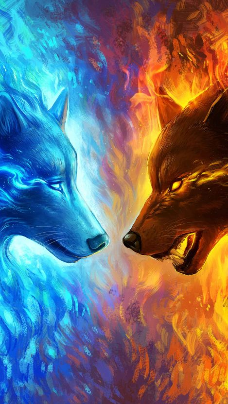 Fire and Ice iPhone Wallpaper