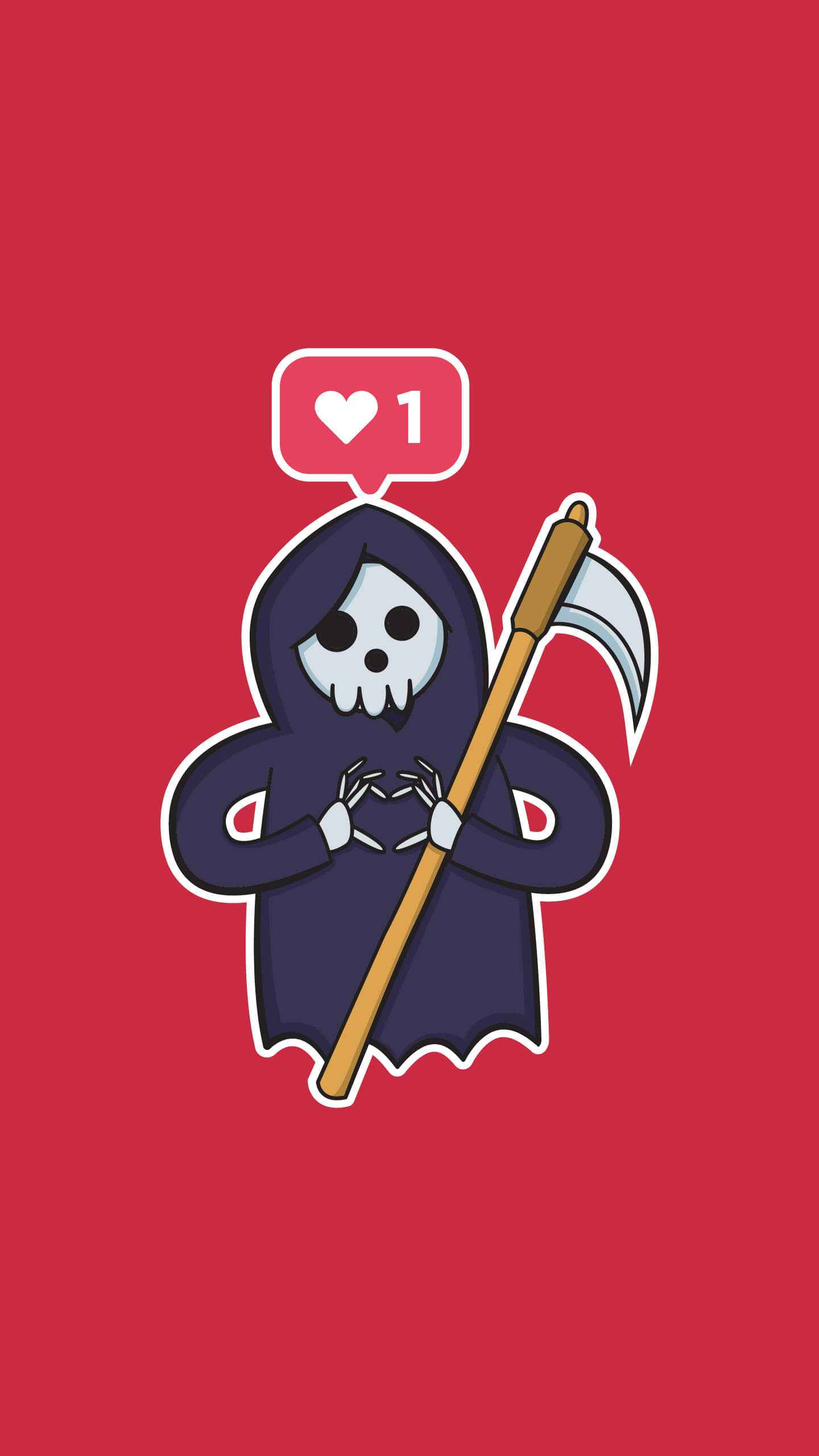 Ghostface lover iPhone Wallpaper