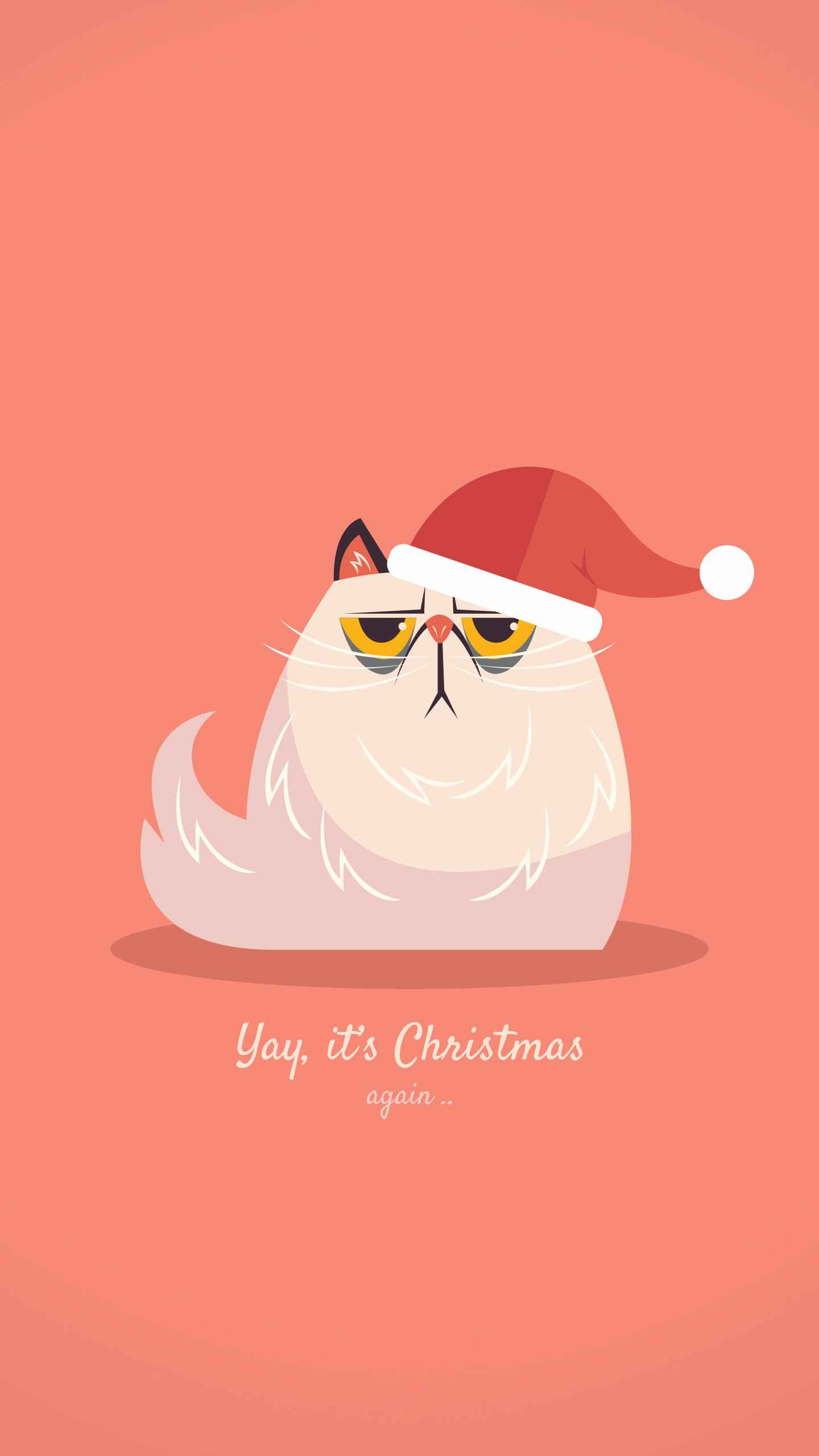 Grumpy Christmas iPhone Wallpaper