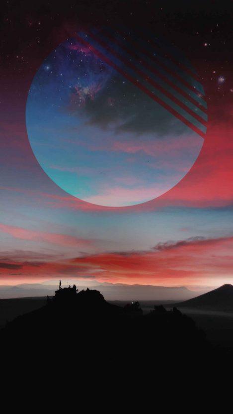 Horizon Moon iPhone Wallpaper