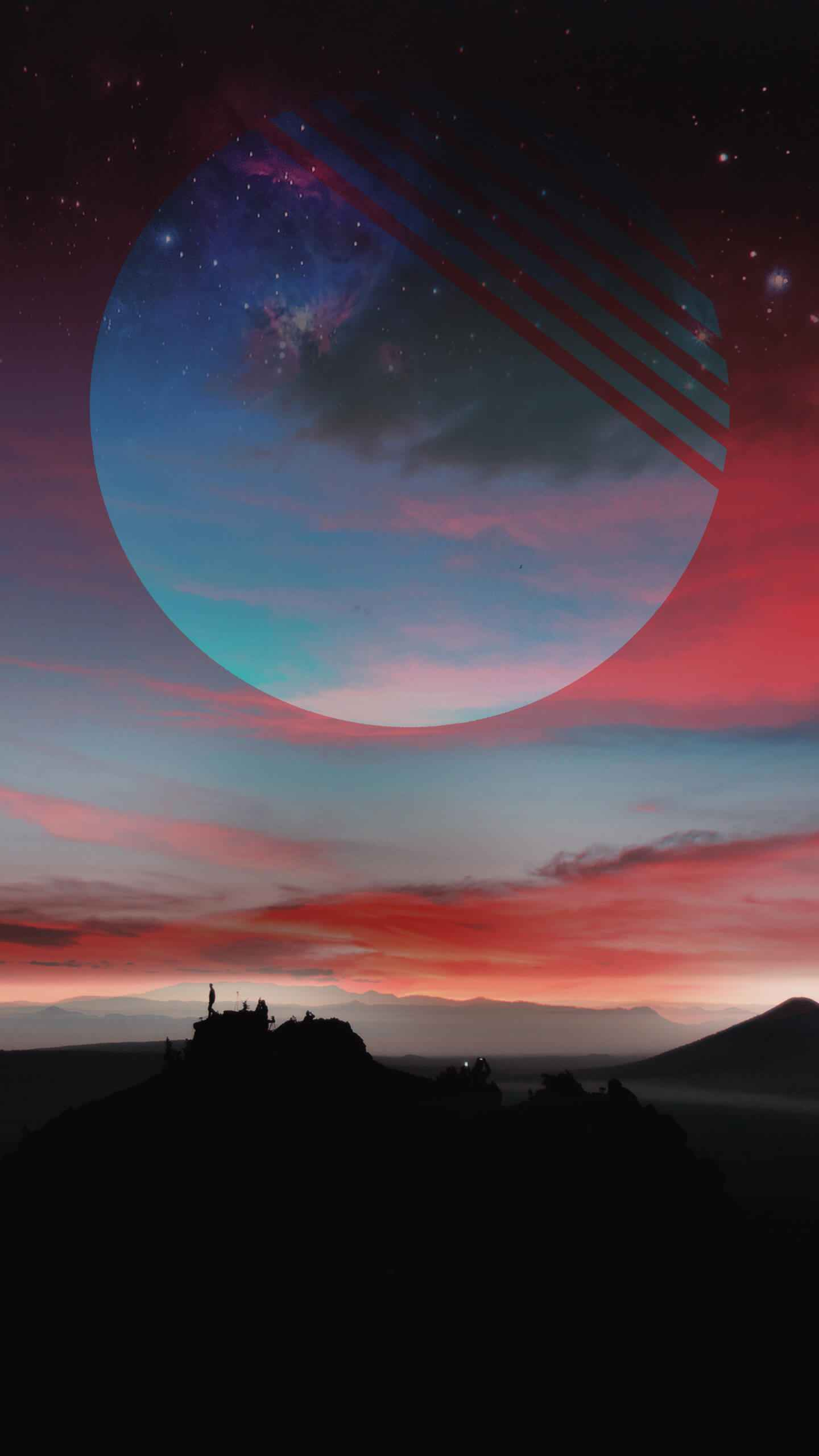 Horizon Moon iPhone Wallpaper