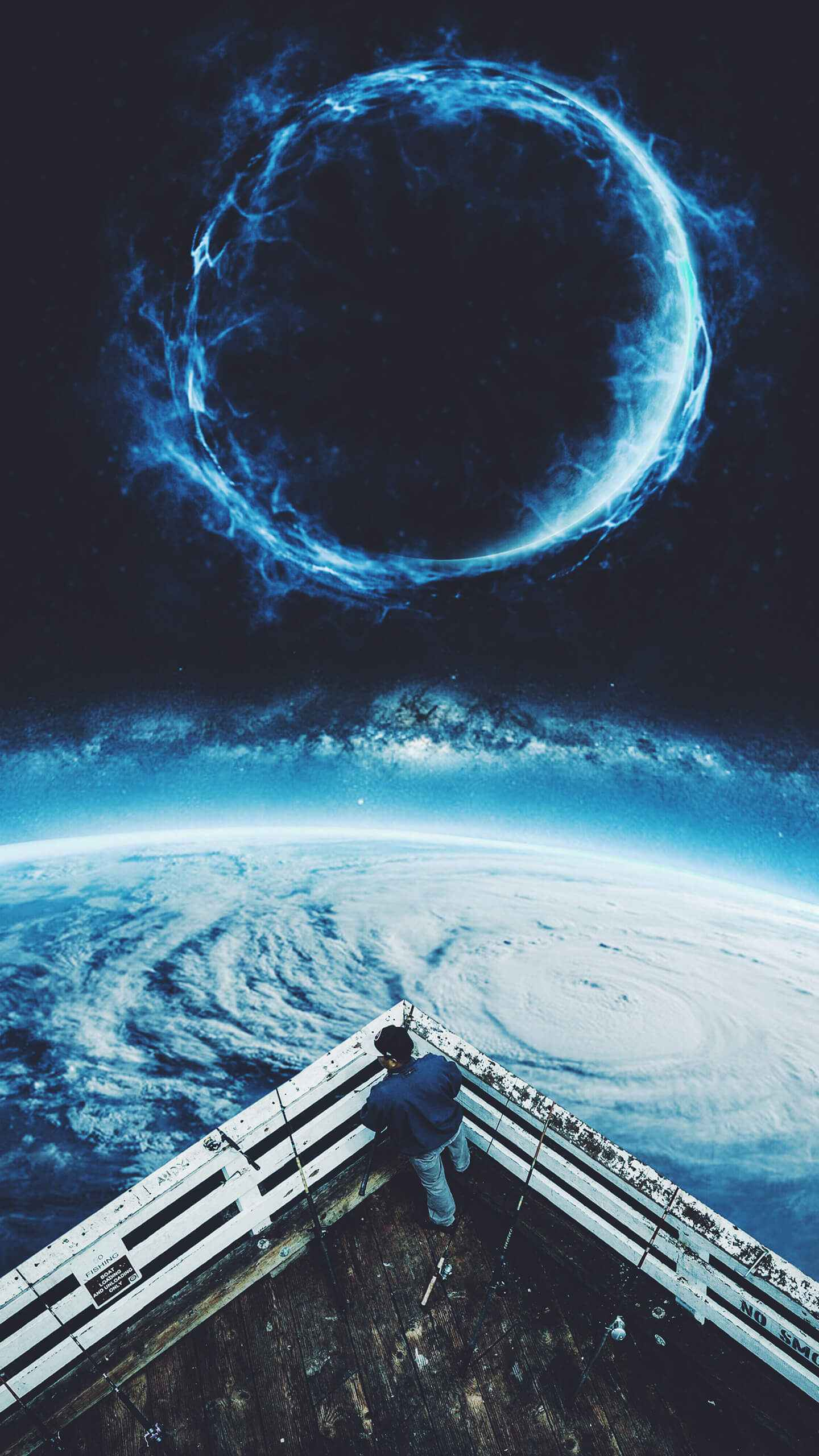 Hurricane from Space iPhone Wallpaper