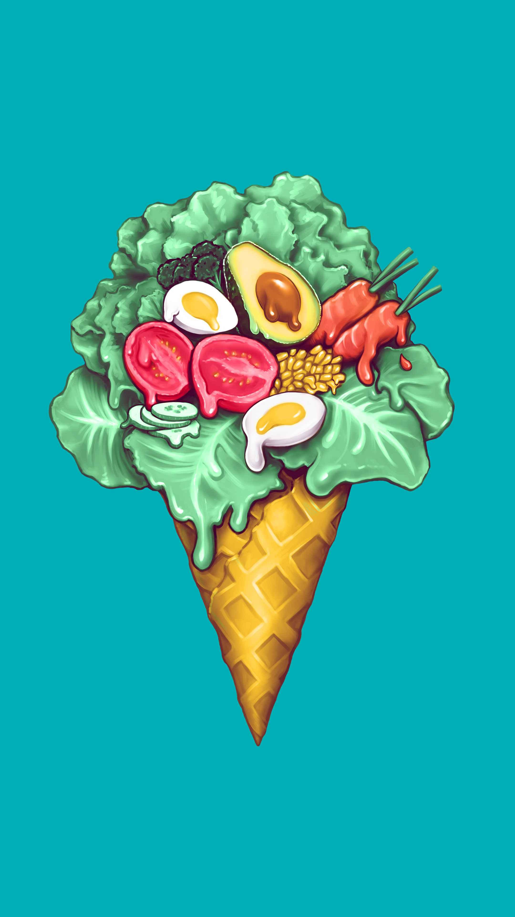 Ice cream salad iPhone Wallpaper