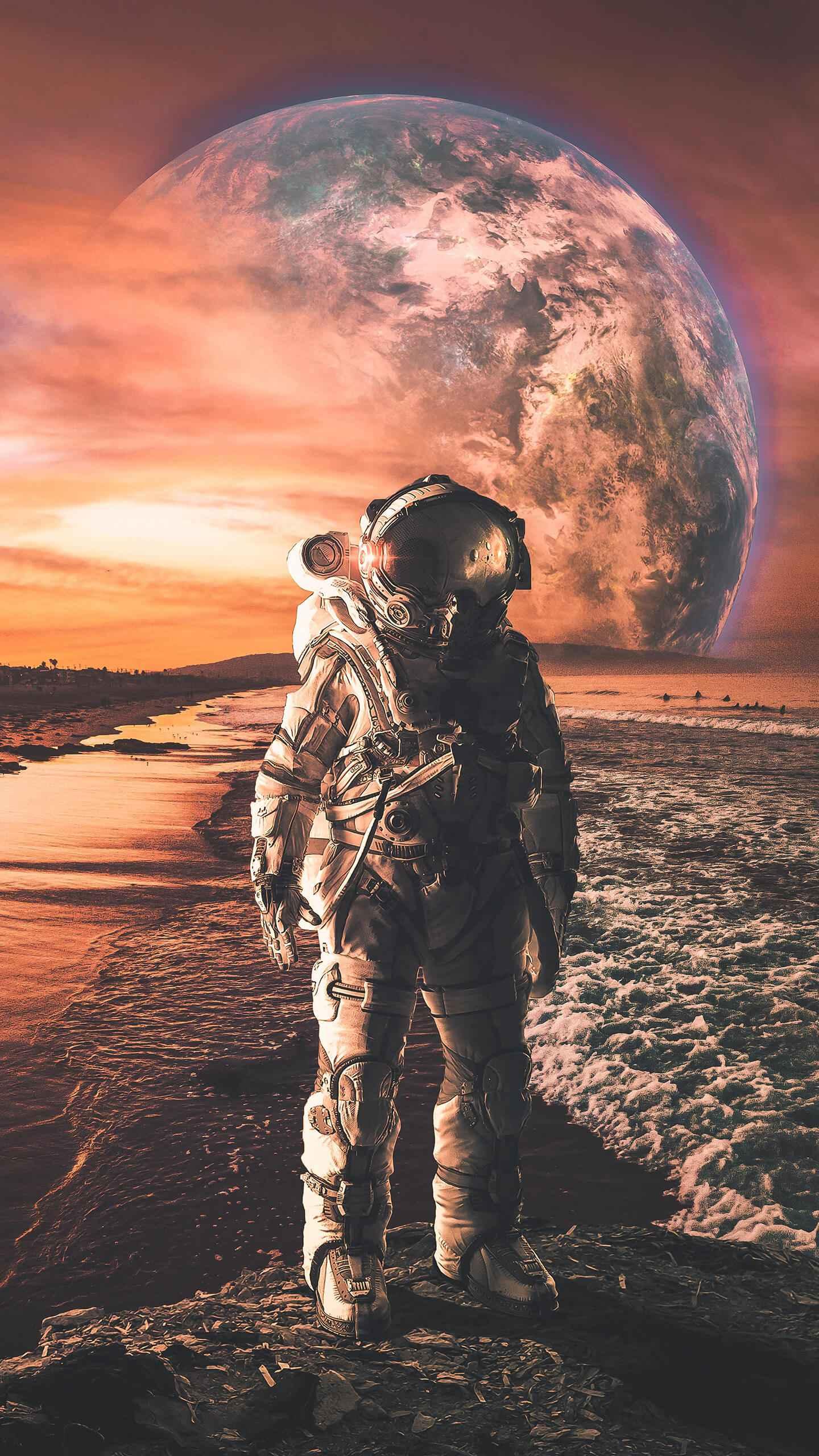 Interstellar Astronaut iPhone Wallpaper