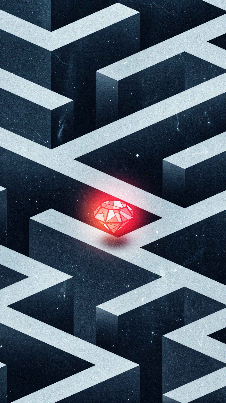 Labyrinth Diamond iPhone Wallpaper