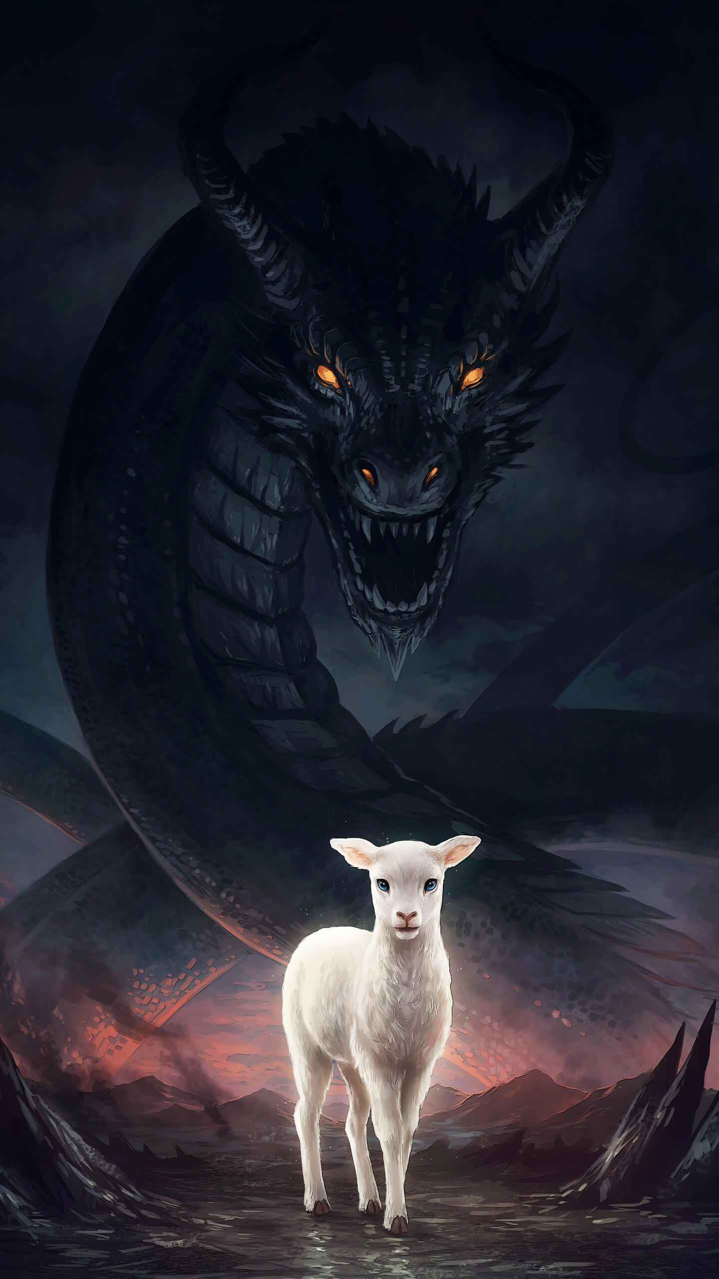 Lamb of Dragon iPhone Wallpaper
