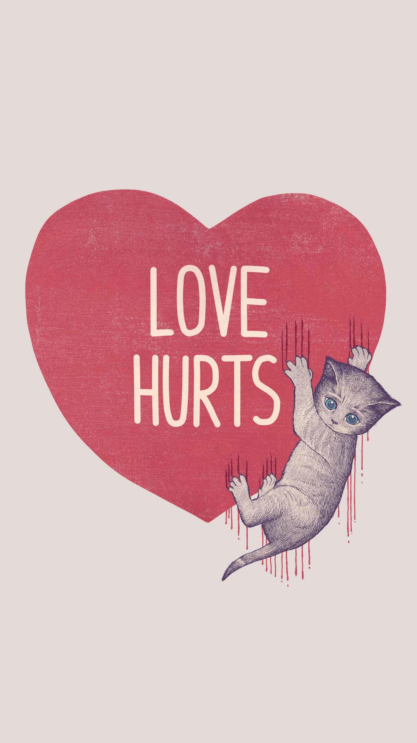 Love Hurts iPhone Wallpaper