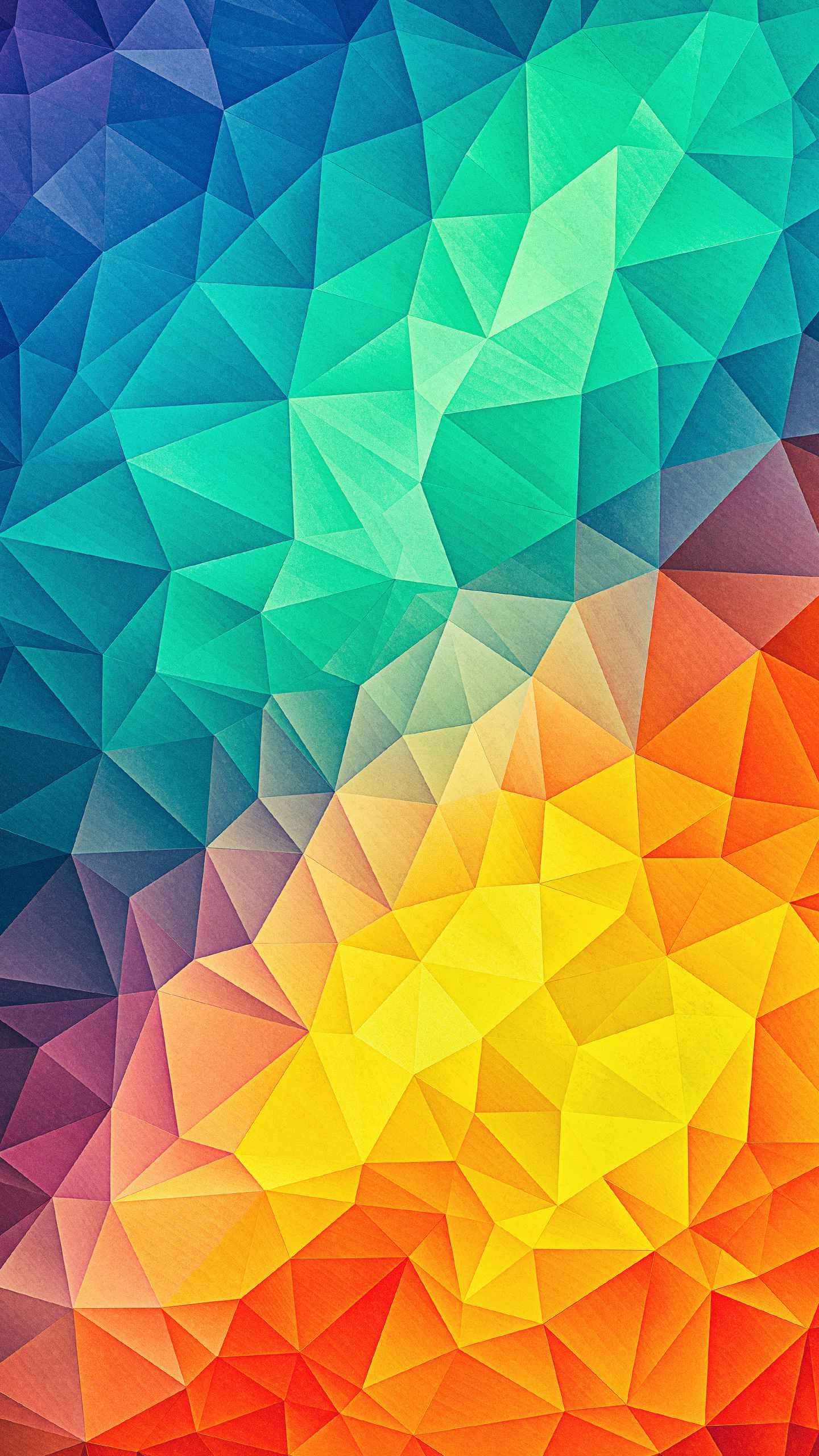 Low Poly Colors iPhone Wallpaper