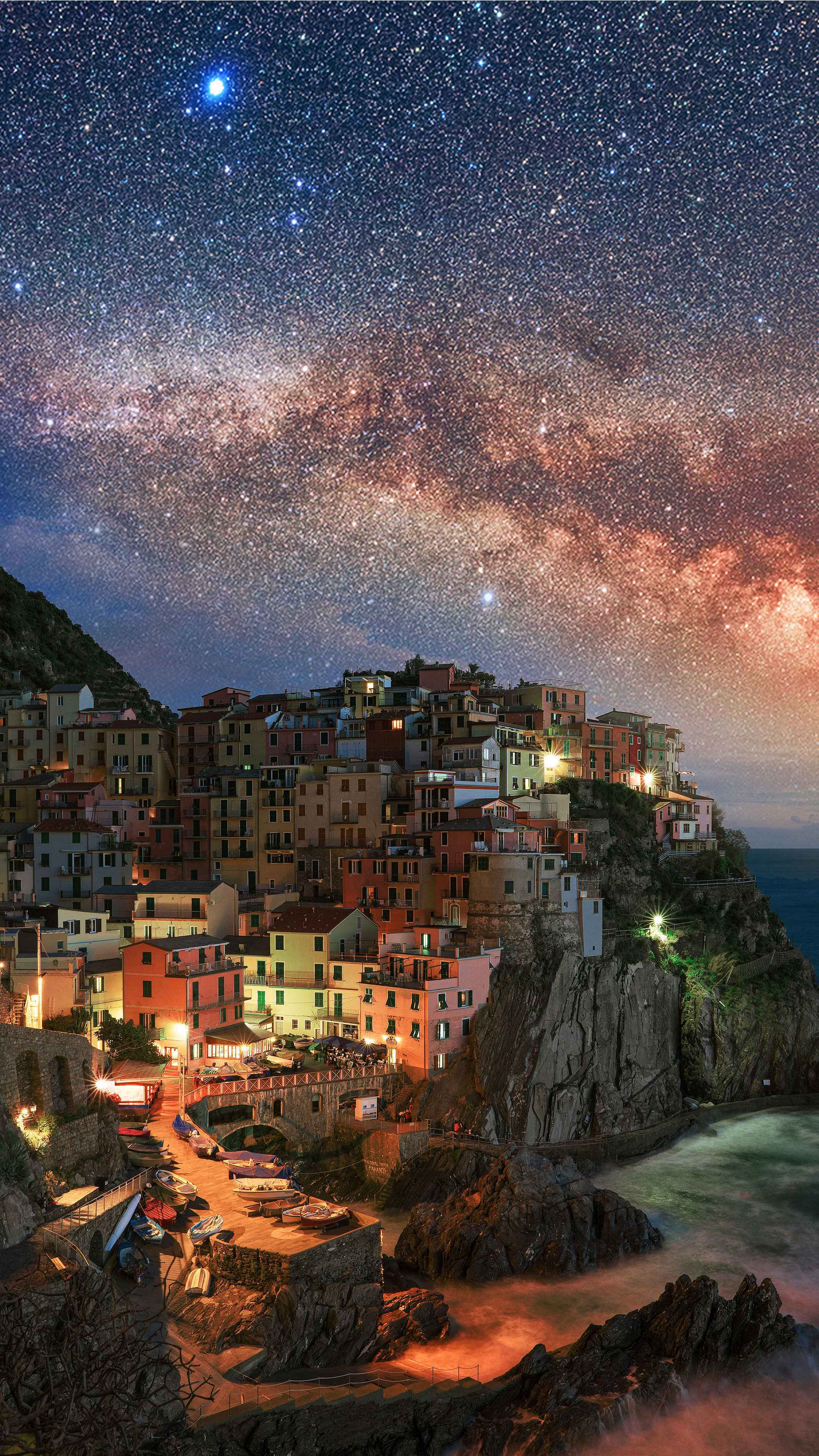 Manarola Italy iPhone Wallpaper