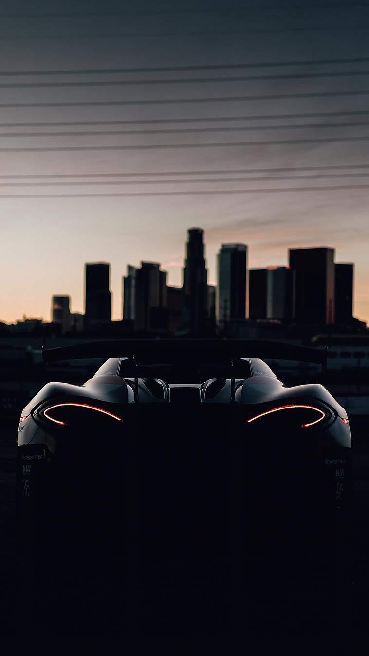 McLaren P1 Sunset iPhone Wallpaper