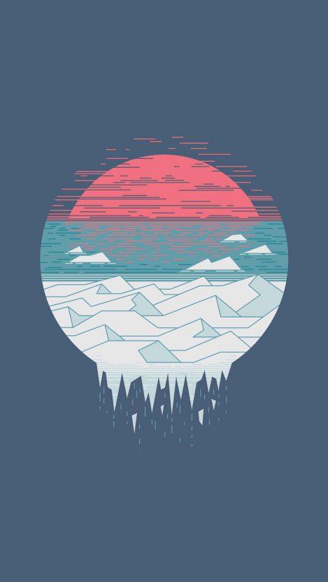 Melting Glacier iPhone Wallpaper