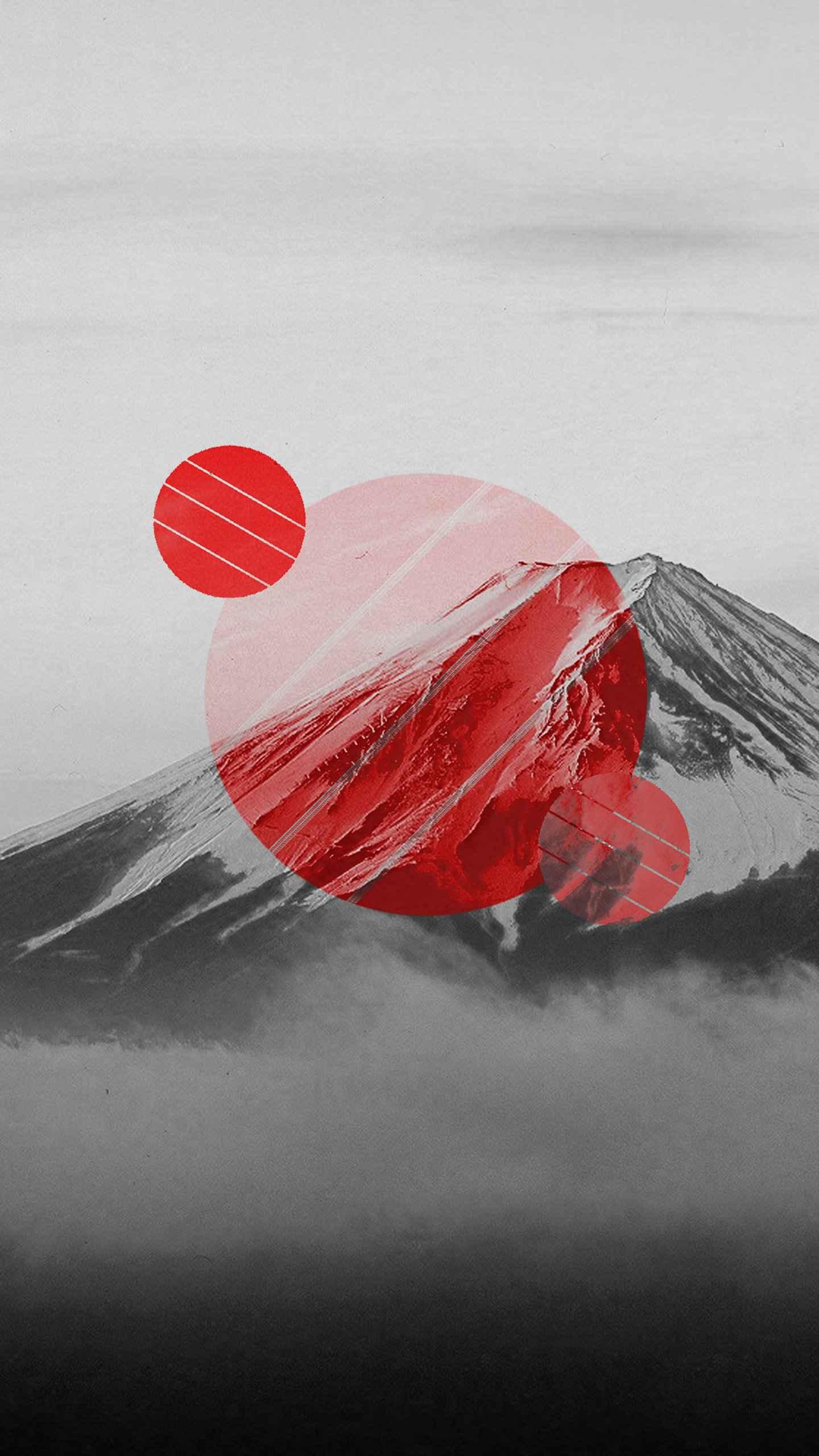 Mount Fuji Polyscape iPhone Wallpaper