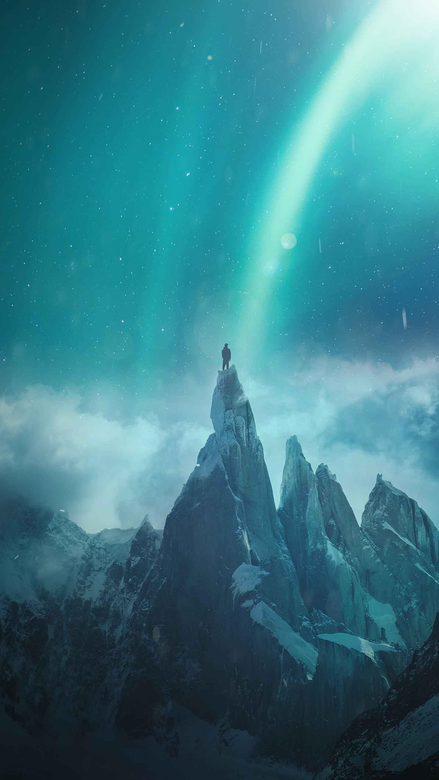 Mountain Summit iPhone Wallpaper